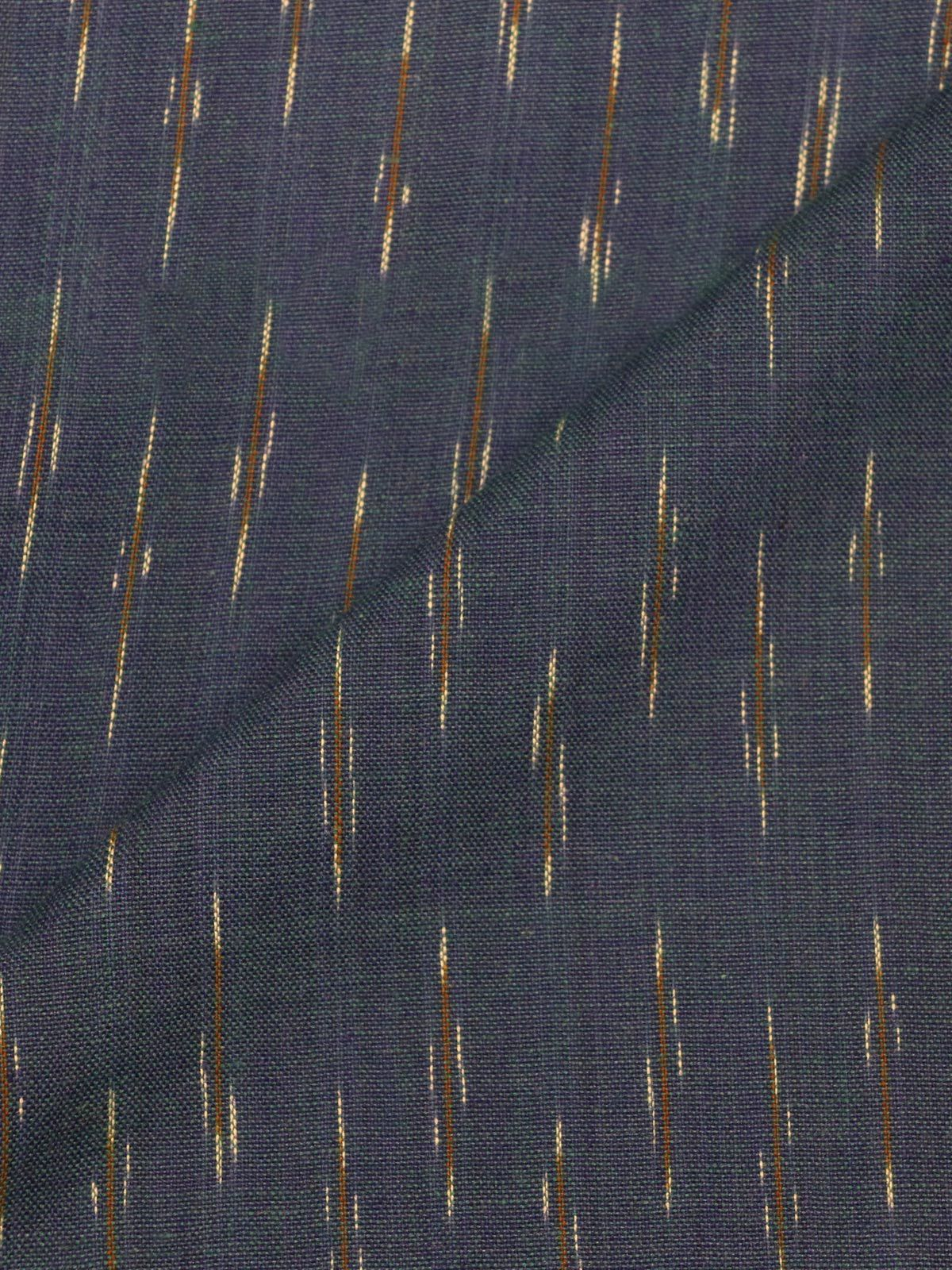 Navy Blue ikat handloom cotton fabric
