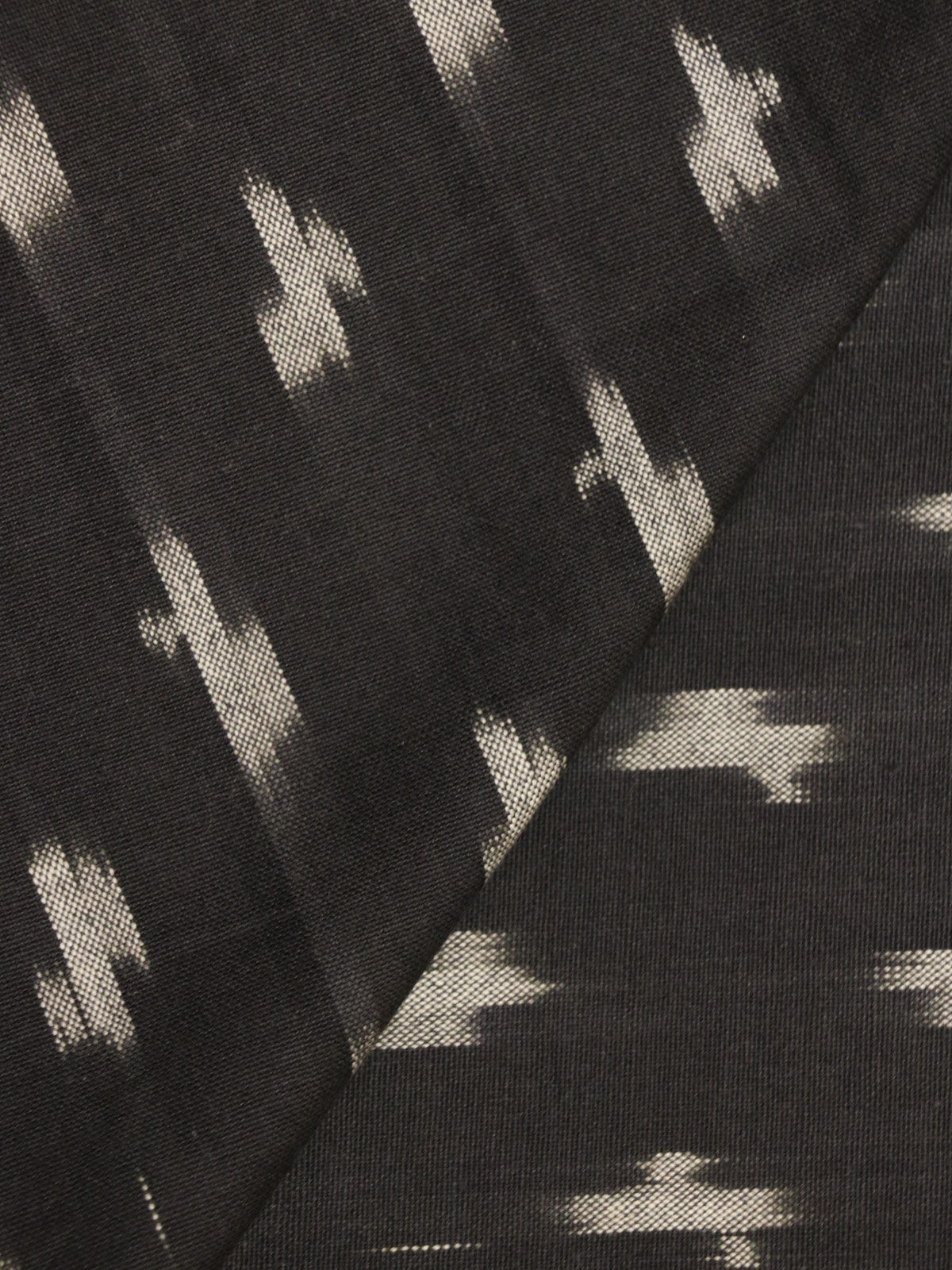 Black & White ikat handloom cotton fabric
