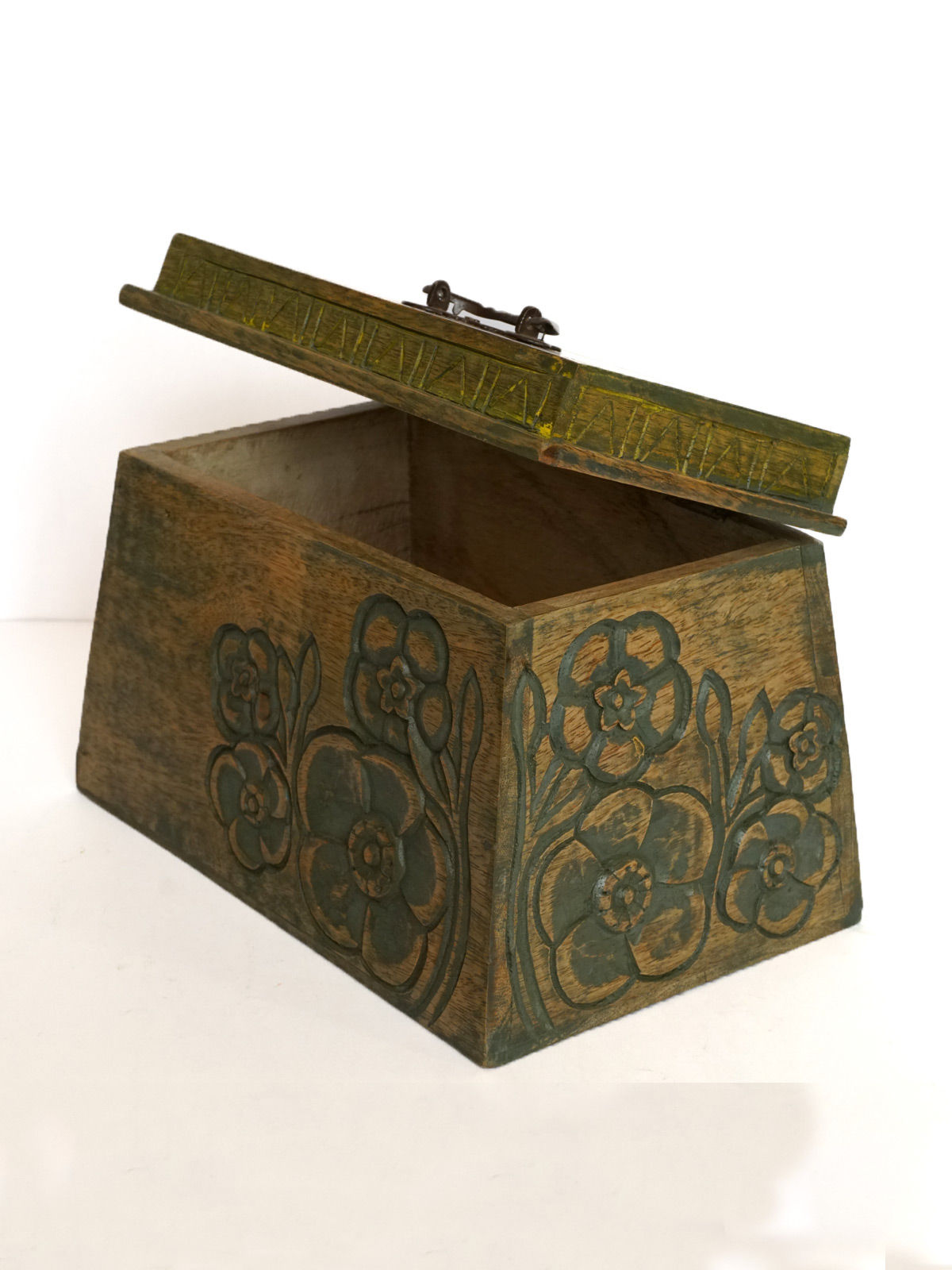 INTHING Flower Carving Box (Green)