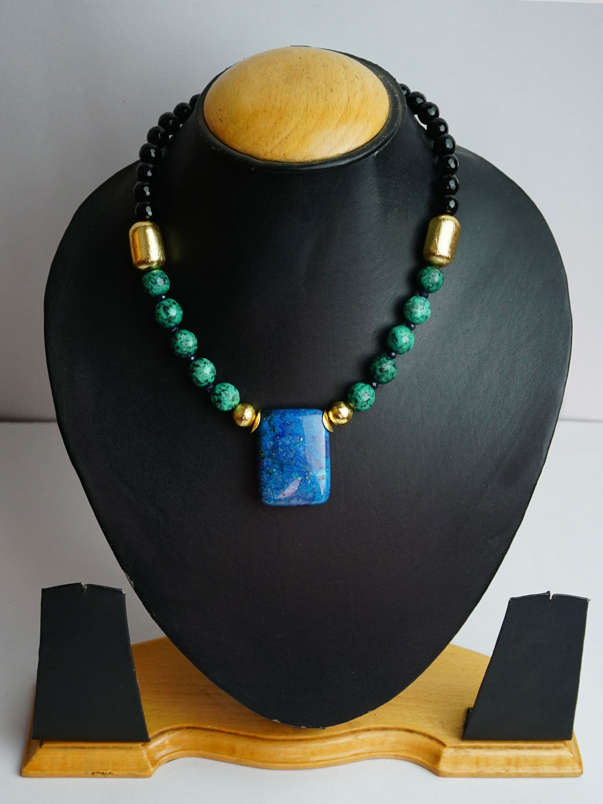 Crafted  Teal stone Jewellery