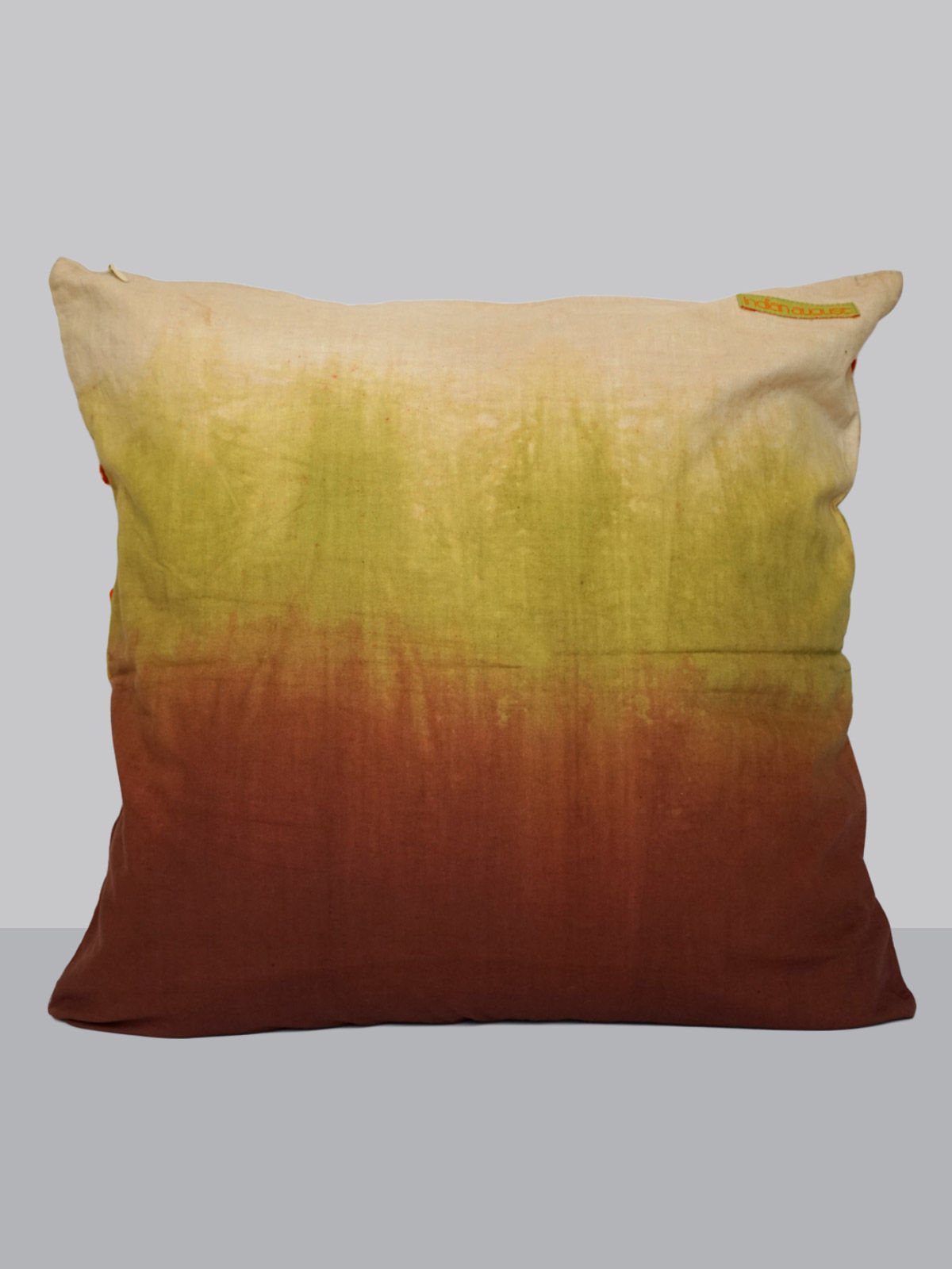 Ombre felt patchwork emroidered cotton cushion cover