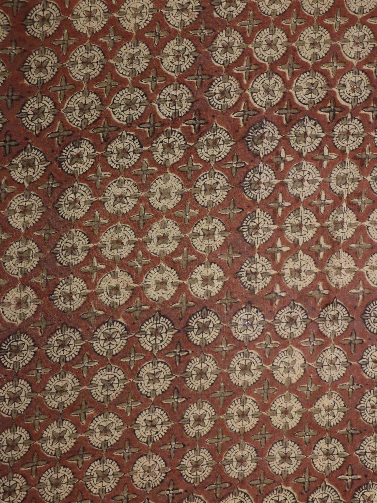 Terrecotta colour silk fabric