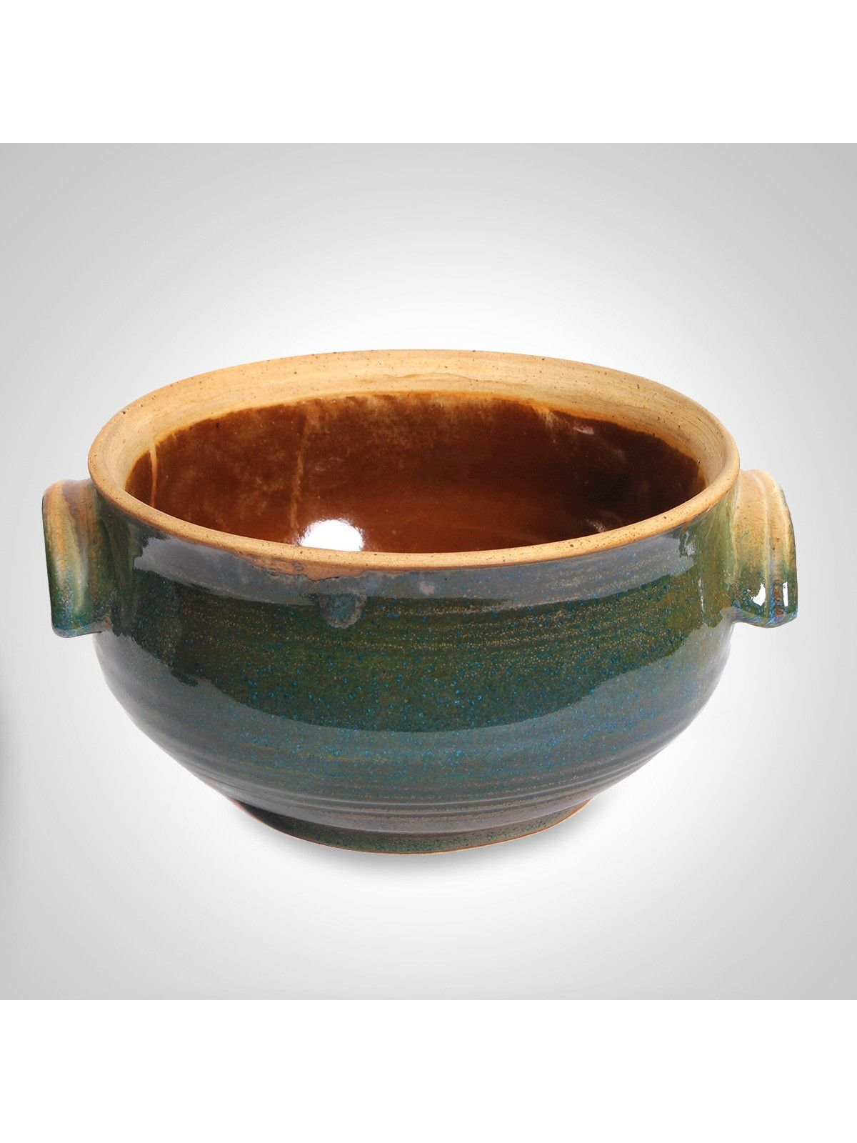 Sea moss ceramic serveware