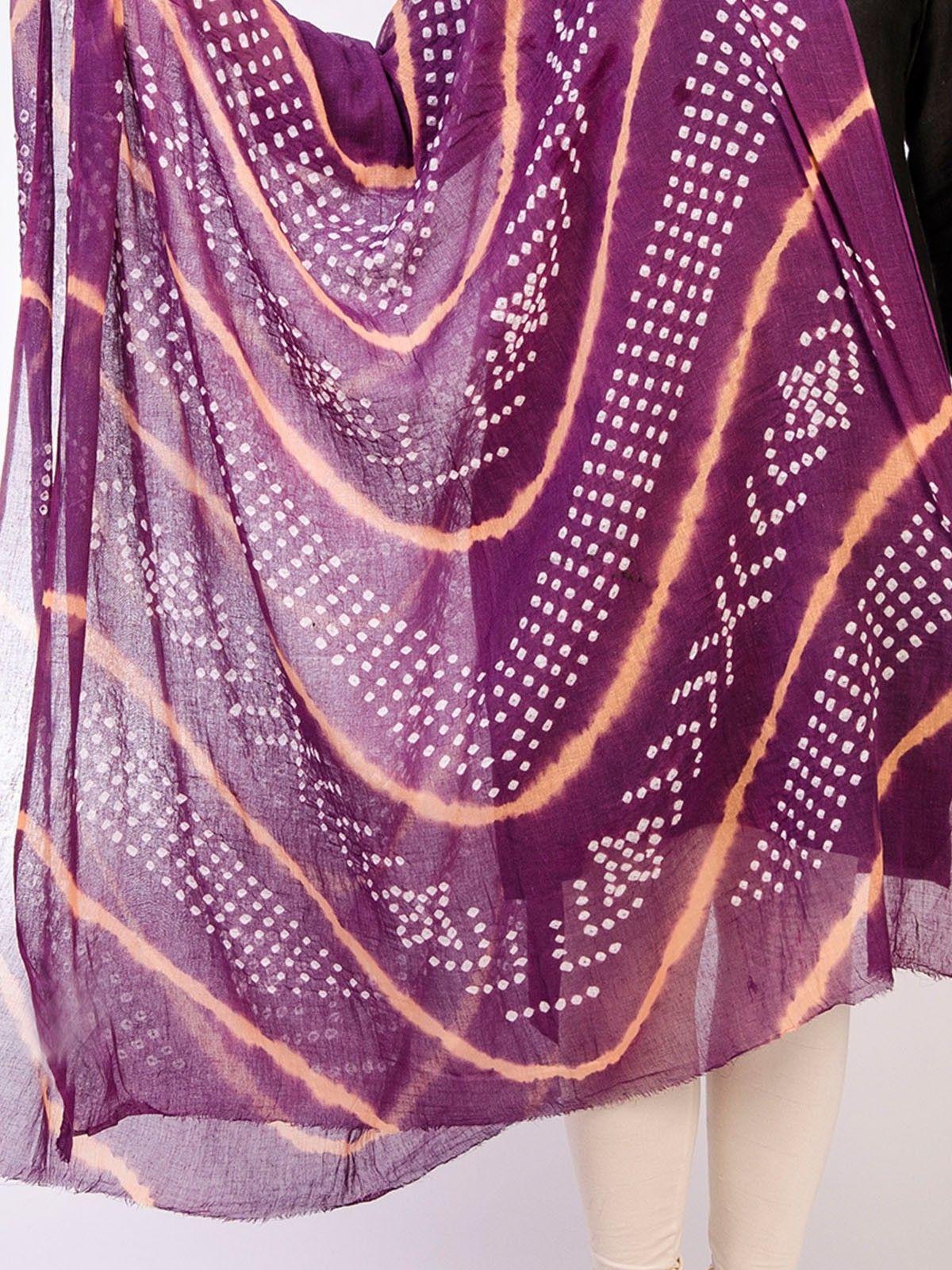 Multicolor Cotton Tie & Dye Dupatta