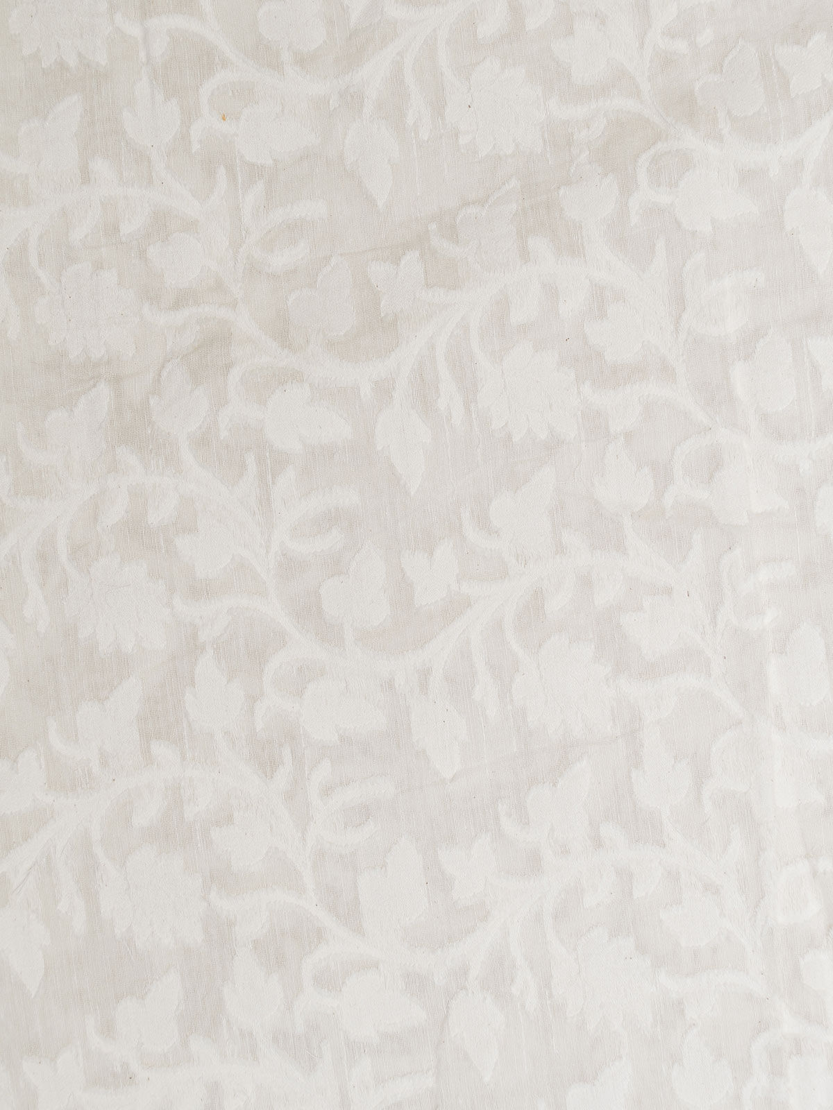 White Jamdani Cotton Fabric