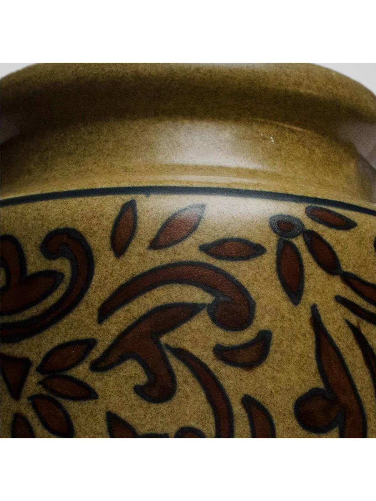 Brown Ceramic Jar with Lid