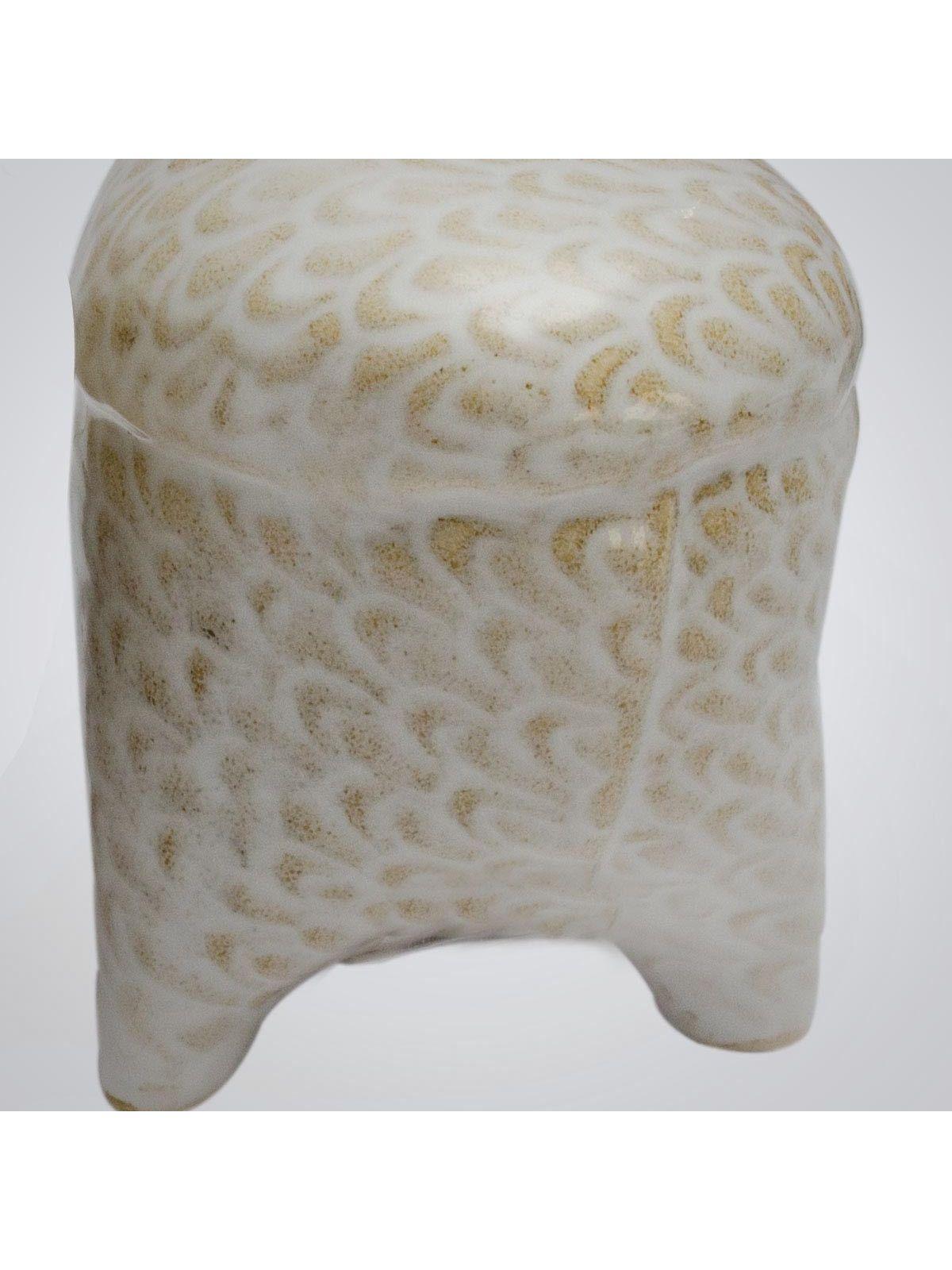 Off White Ceramic Salt & Pepper Holder - 1pc