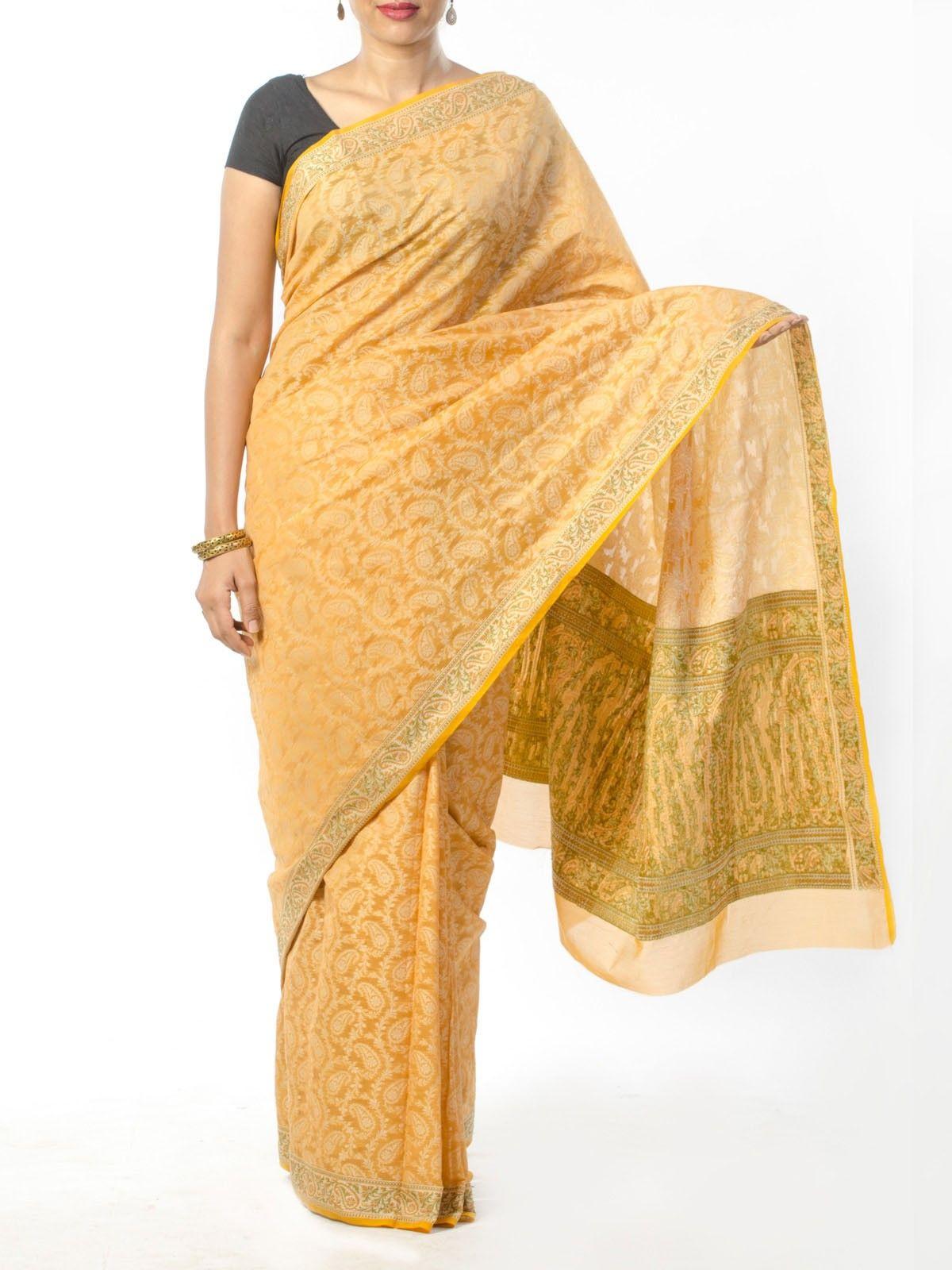Yellow Jamdani Saree
