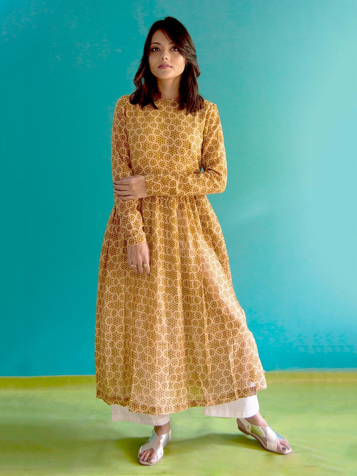 Yellow mul mul dress