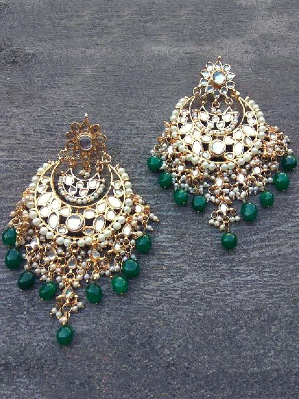 Kundan Statement  Earrings
