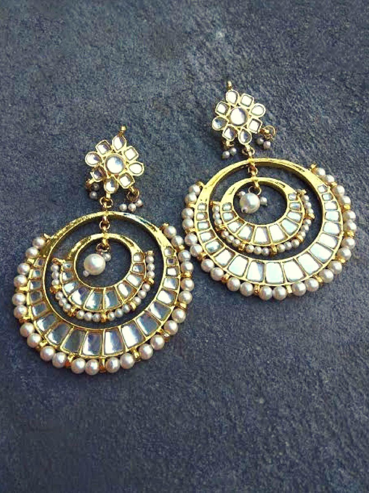 Kundan Round Earrings