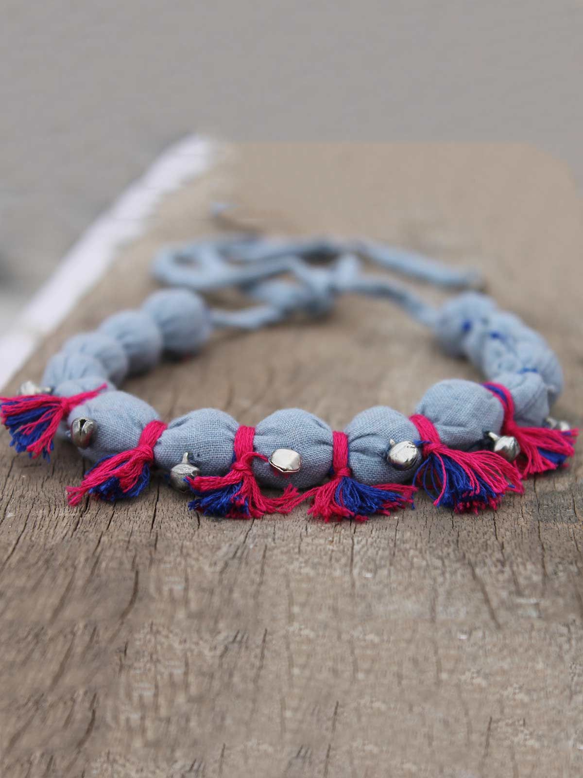 Jhanjher grey gulband necklace
