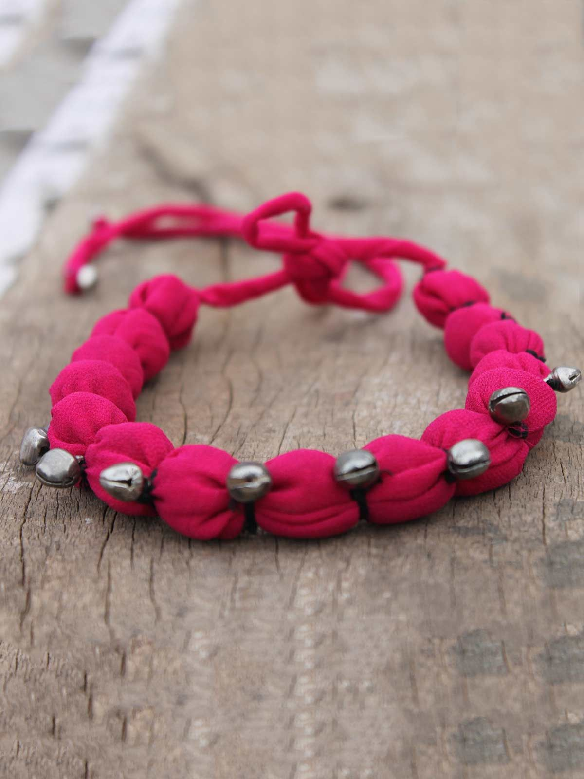 Jhanjher pink gulband necklace