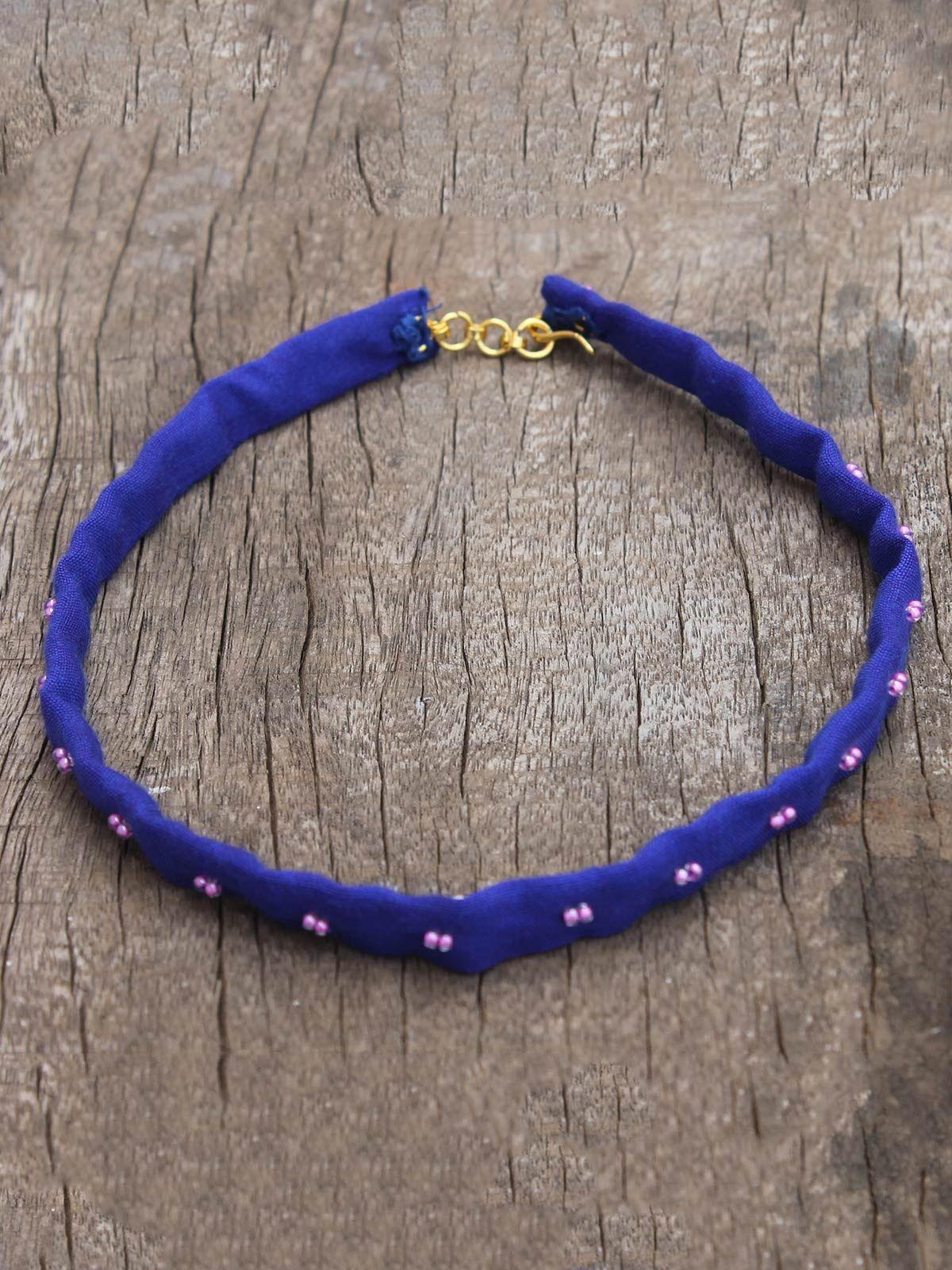 Tara blue (pink) bead choker