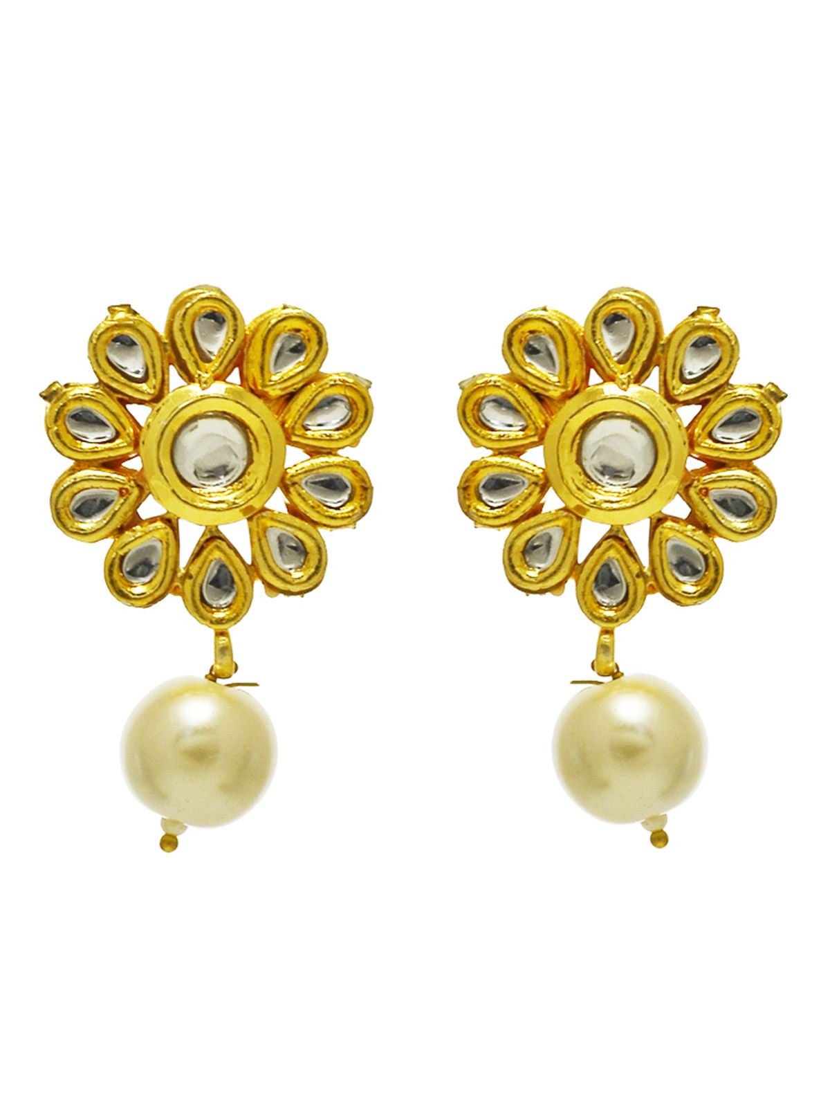 Kundan and Peral Stud earrings