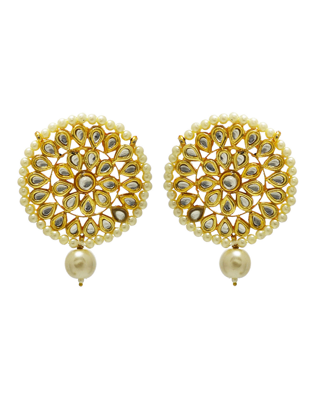 Kundan and Pearl Stud earrings