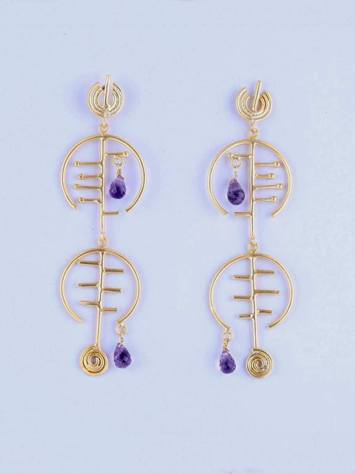Lucifor semi precious metal earrings