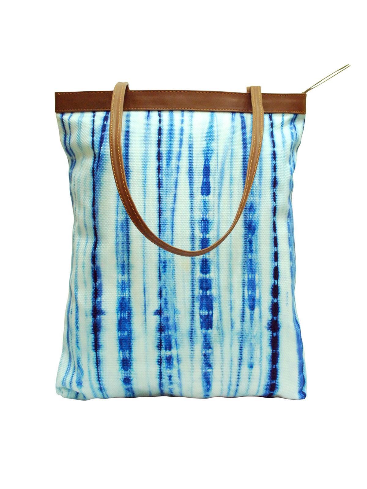 Shibori Tote With Embroidery