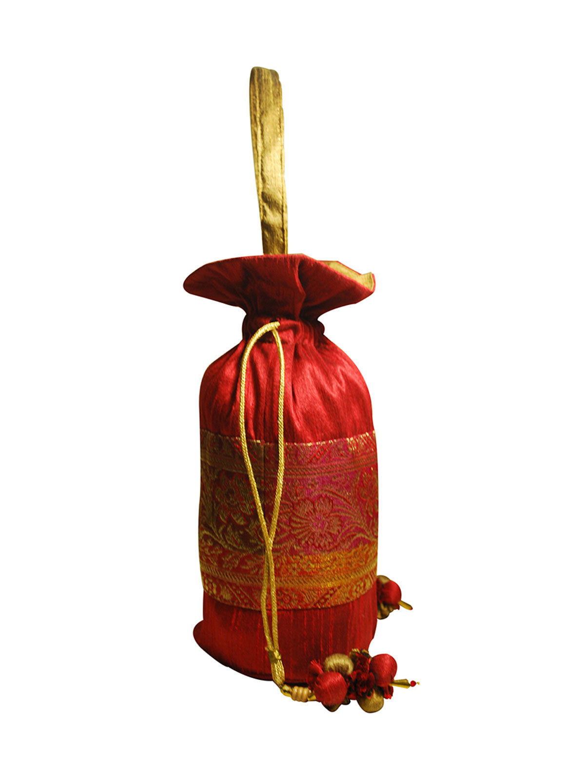 Traditional Potli (Red & Gold)