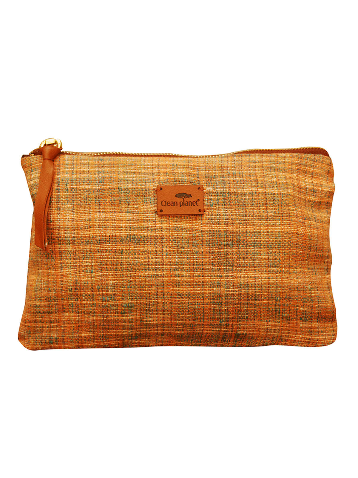 Khadi Pouch (Green Peach)