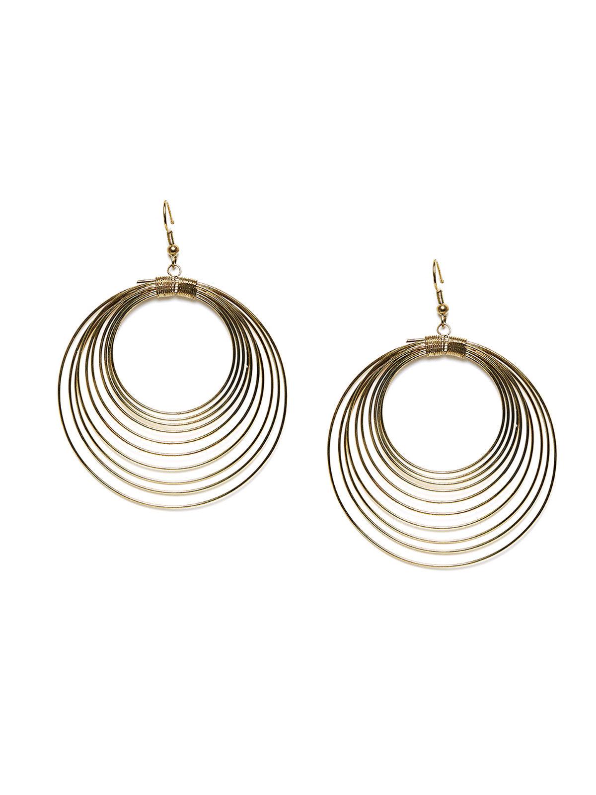 Imli Street classic gold tone wired earrings