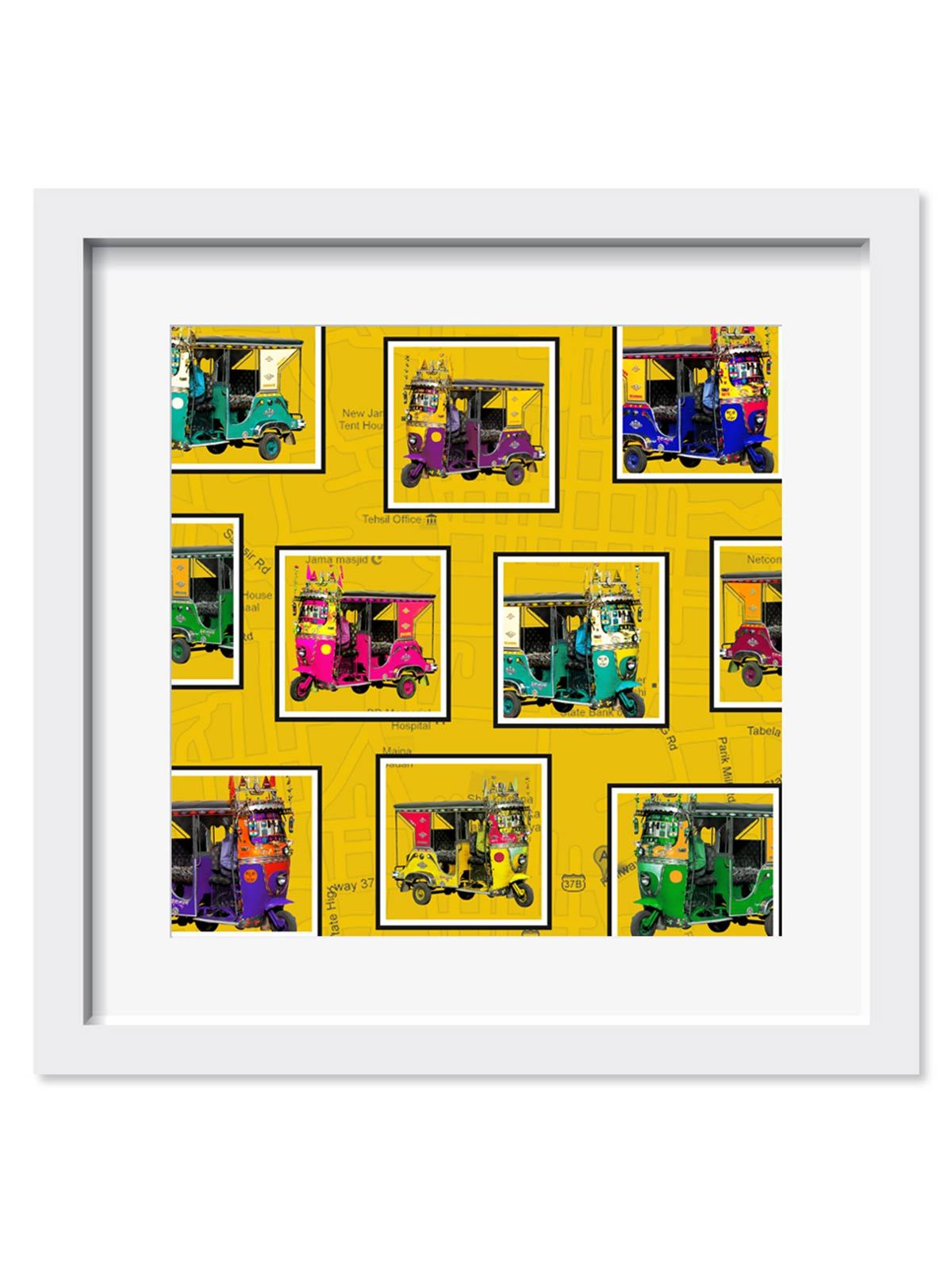 Retro Taxis Art Print