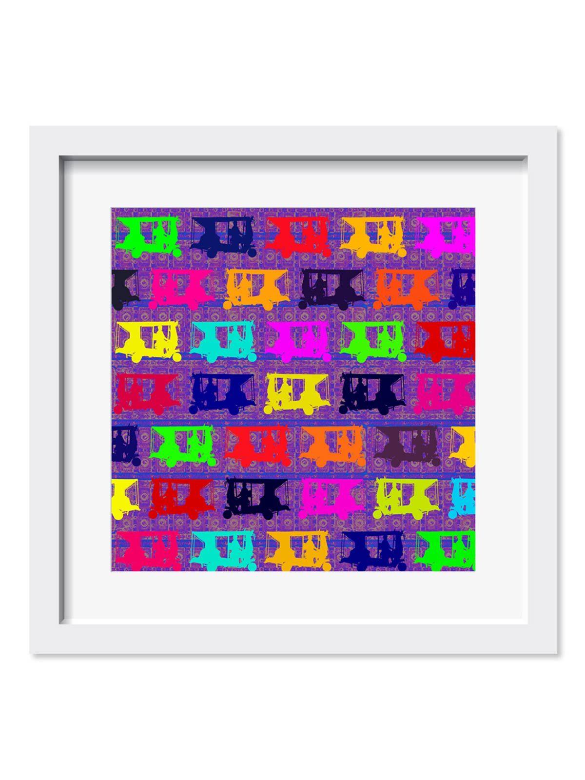 Pop Taxis Art Print - 9X9 Inches