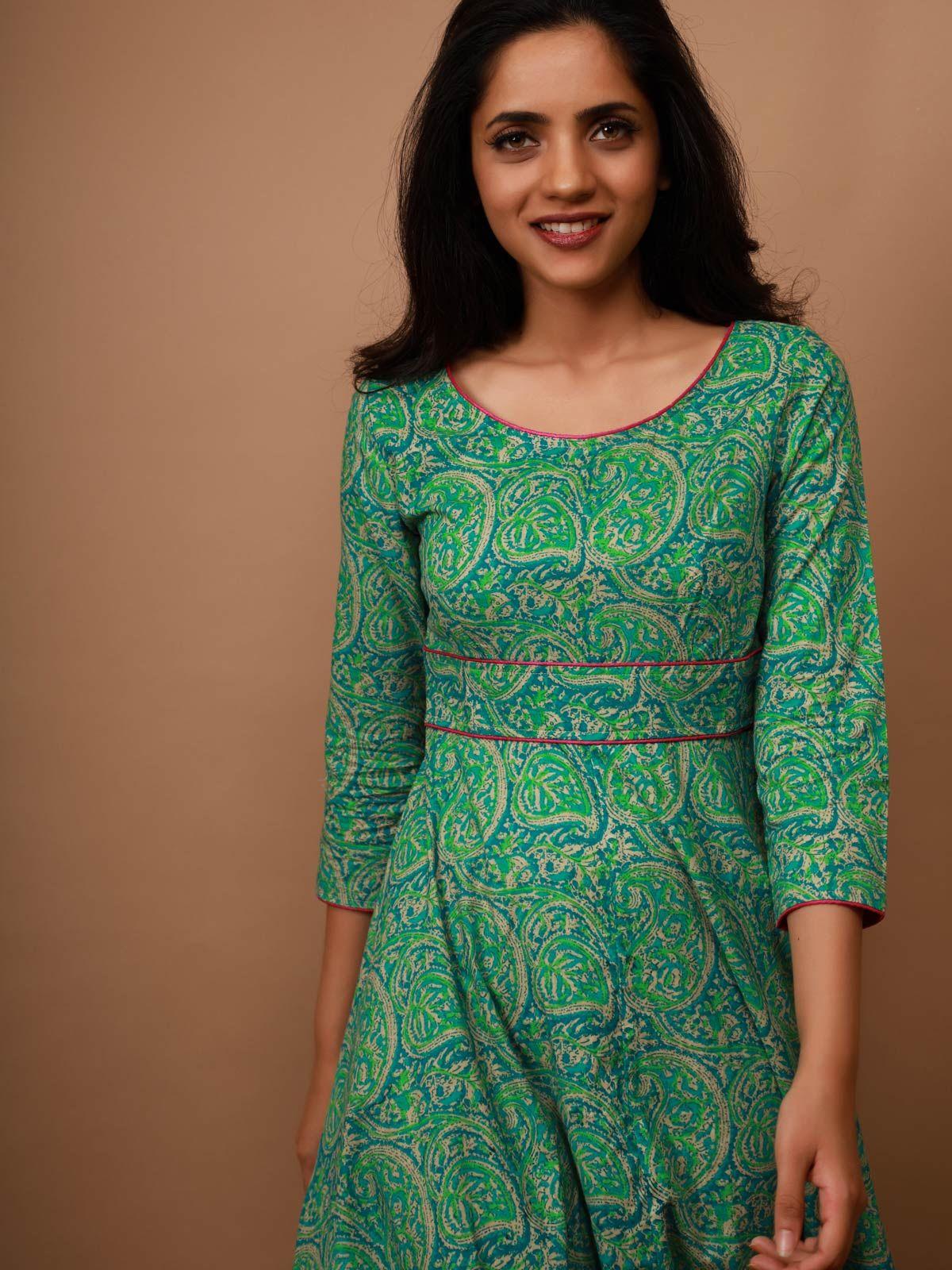 Green Paisley Maxi Dress