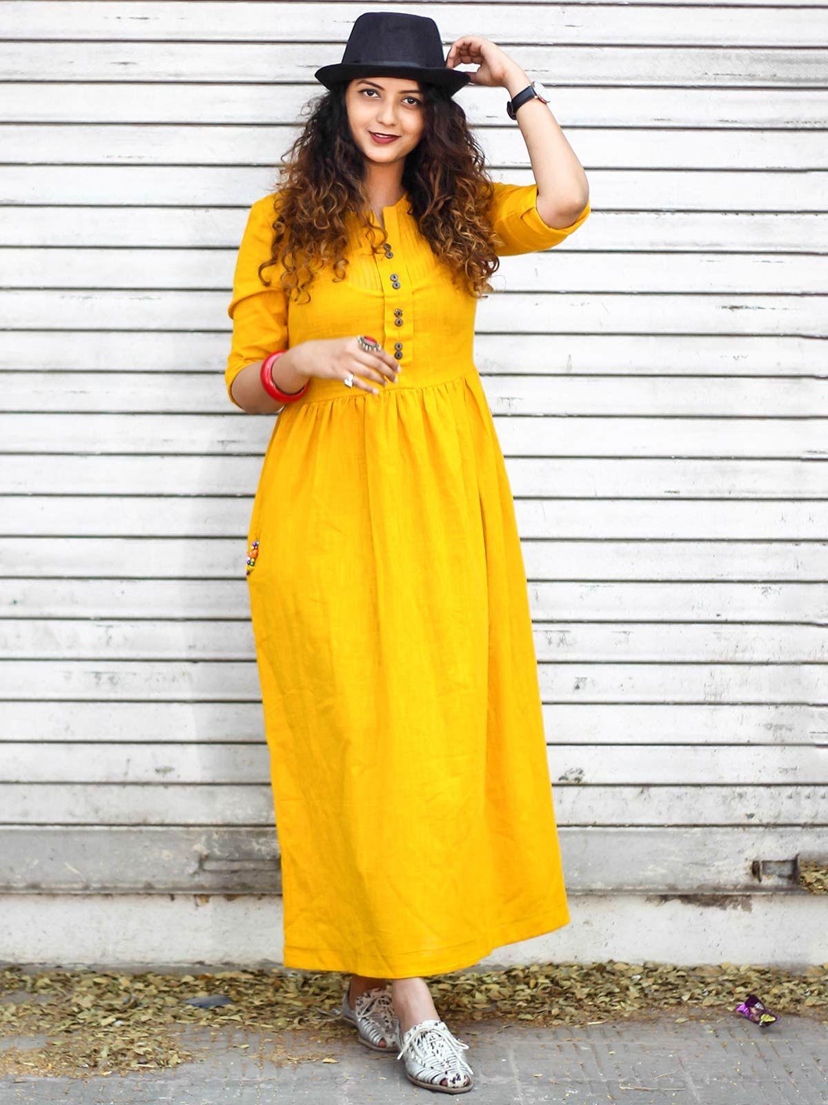 Mustard Sunrise to Sunset Dress