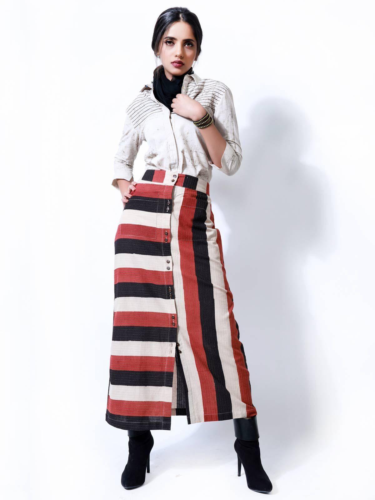 Block Print Tube Skirt