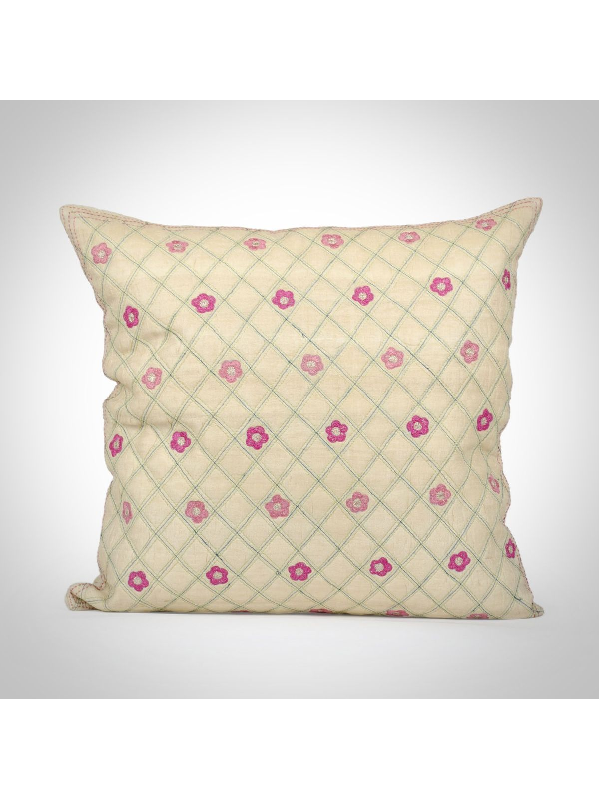 Tussar Silk Cushion Cover - 16x16Inch