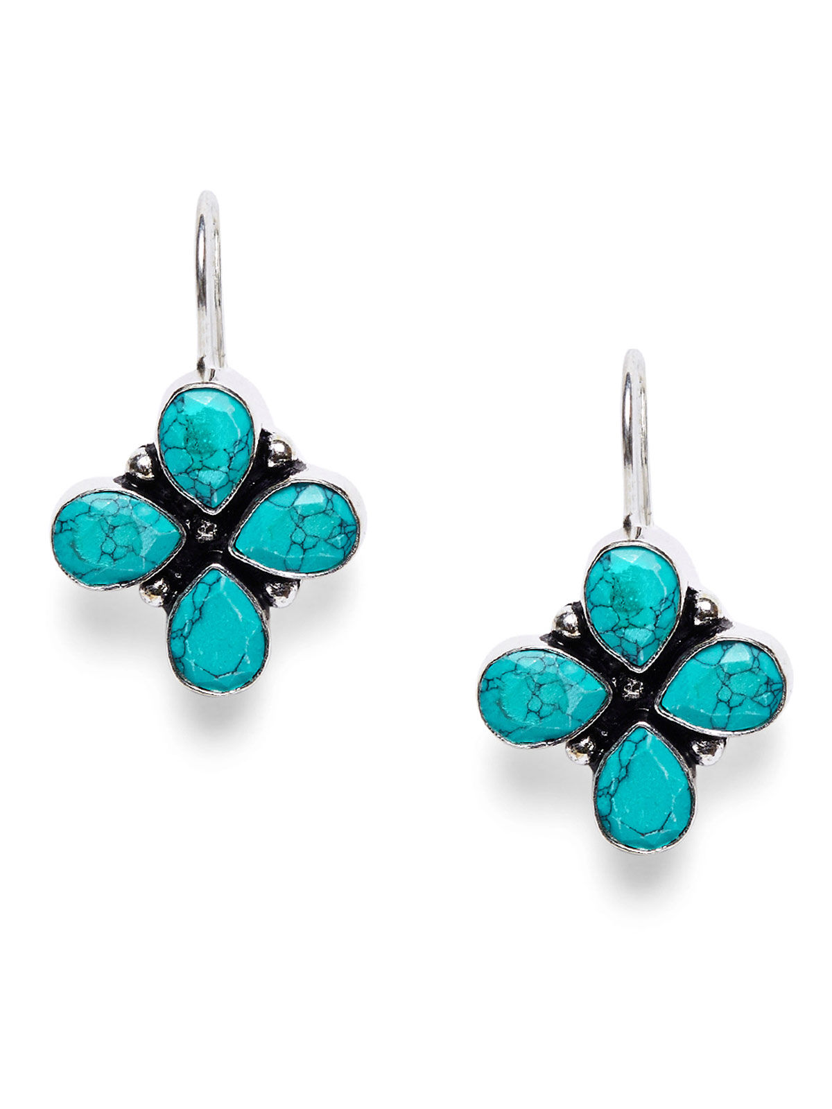 Imli Street flower beeded turquoise jewellery earrings