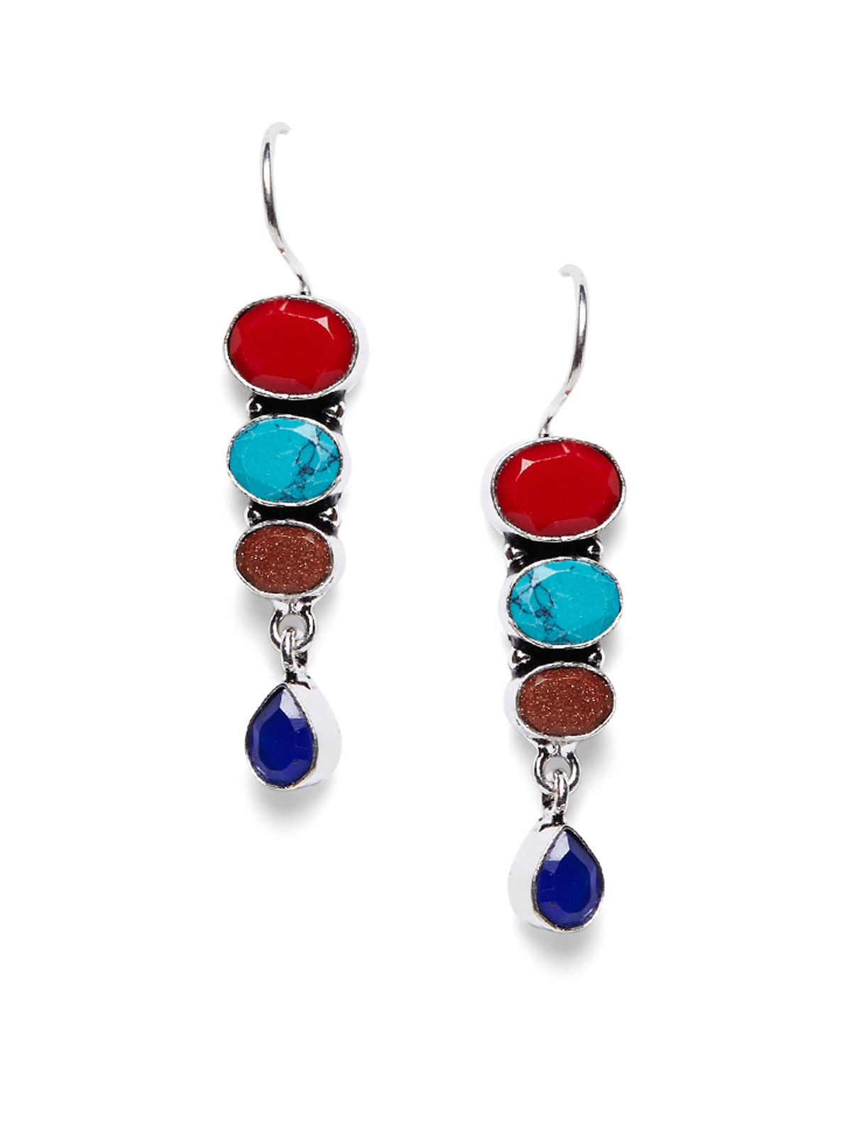 Imli Street multi color brass earrings set