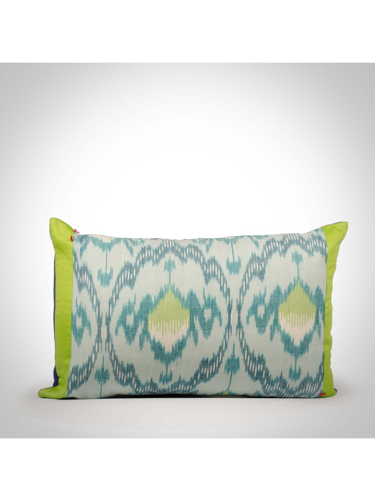 Cotton ikat Cotton Cushion Cover - 12x18Inch