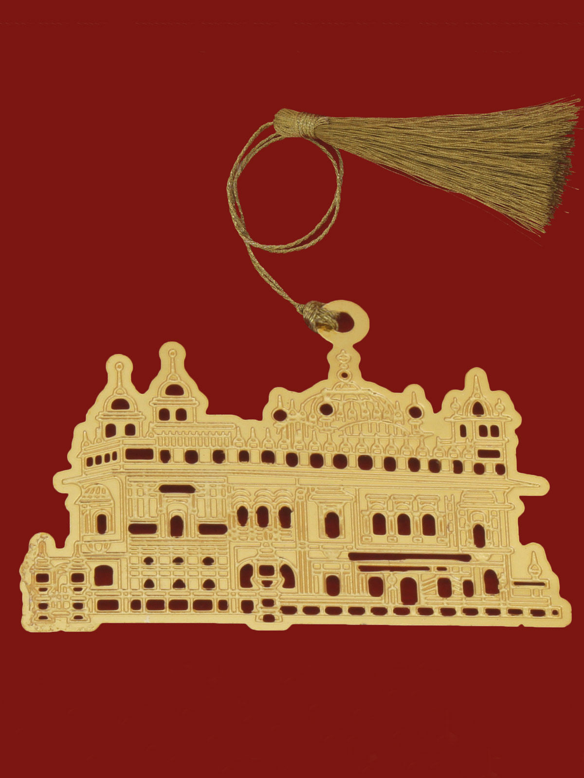 Golden Temple  brass gold plated bookmark
