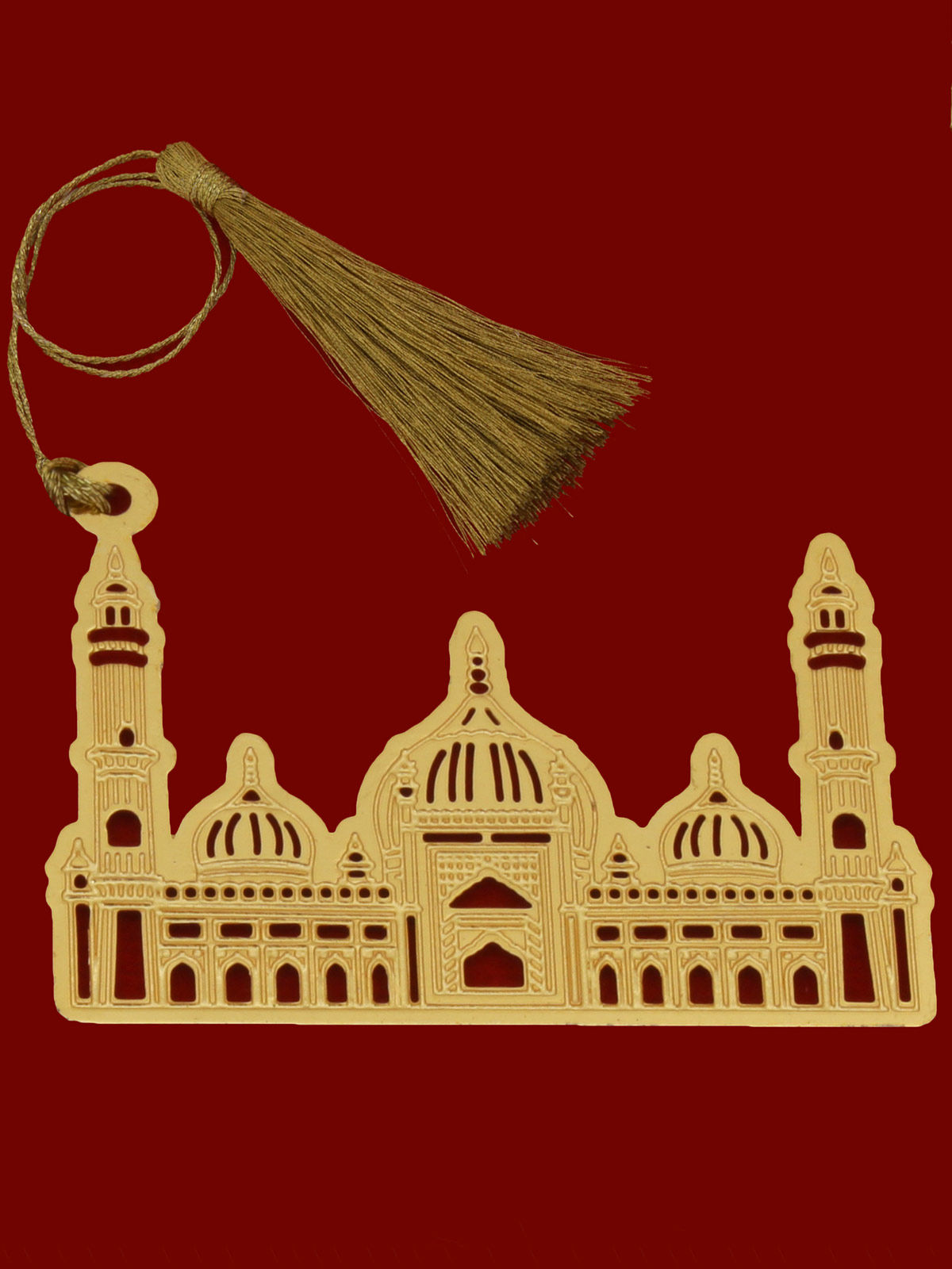 Jama Masjid  brass gold plated bookmark