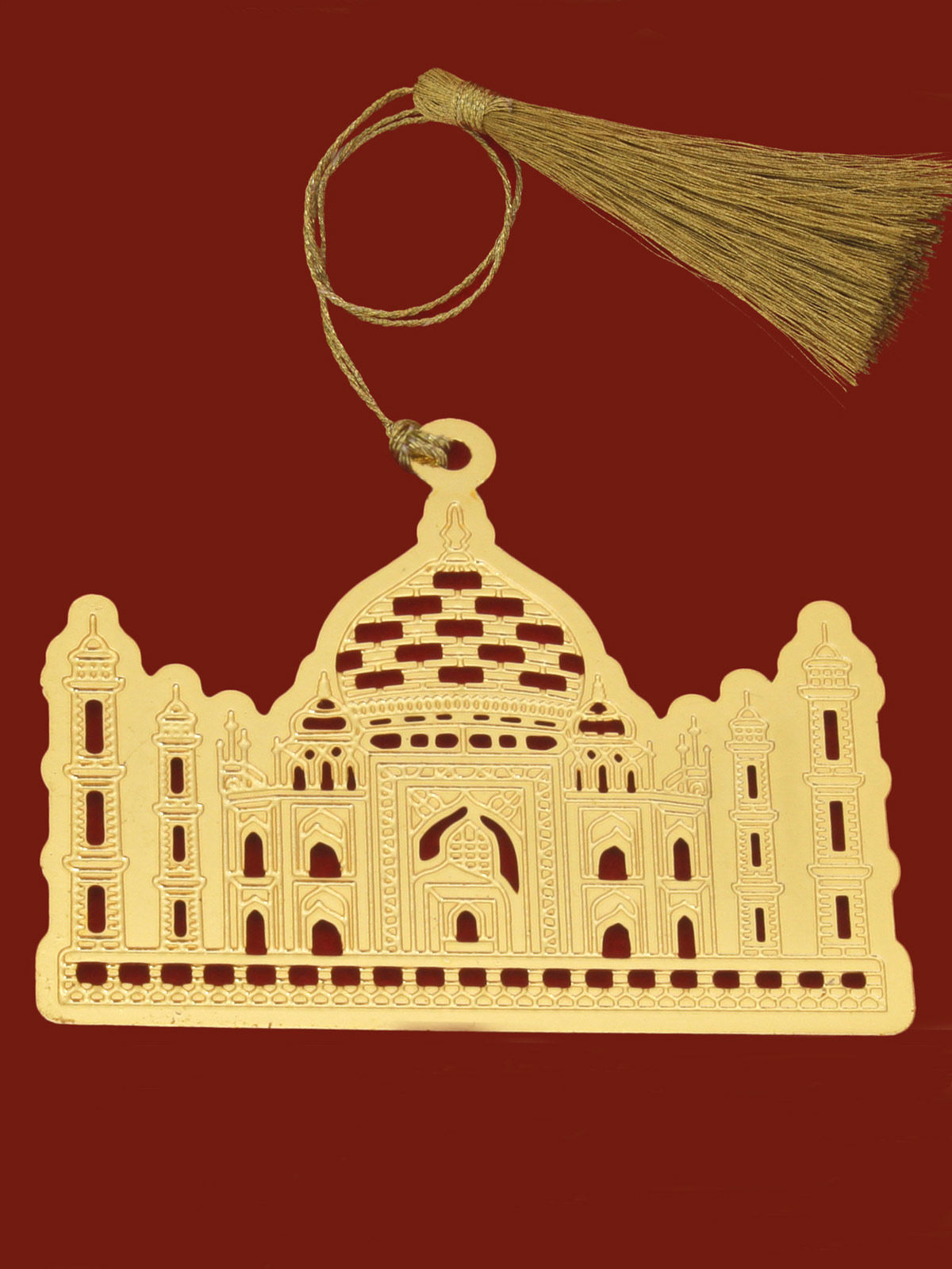 Taj Mahal  brass gold plated bookmark