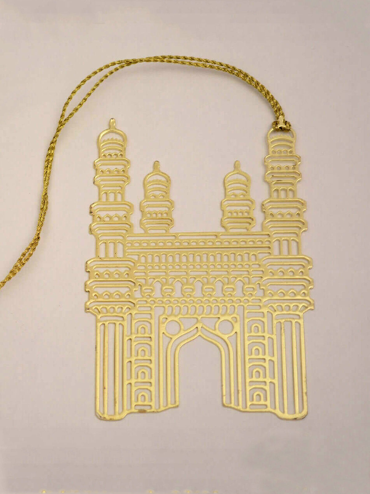 CharMinar  brass gold plated bookmark