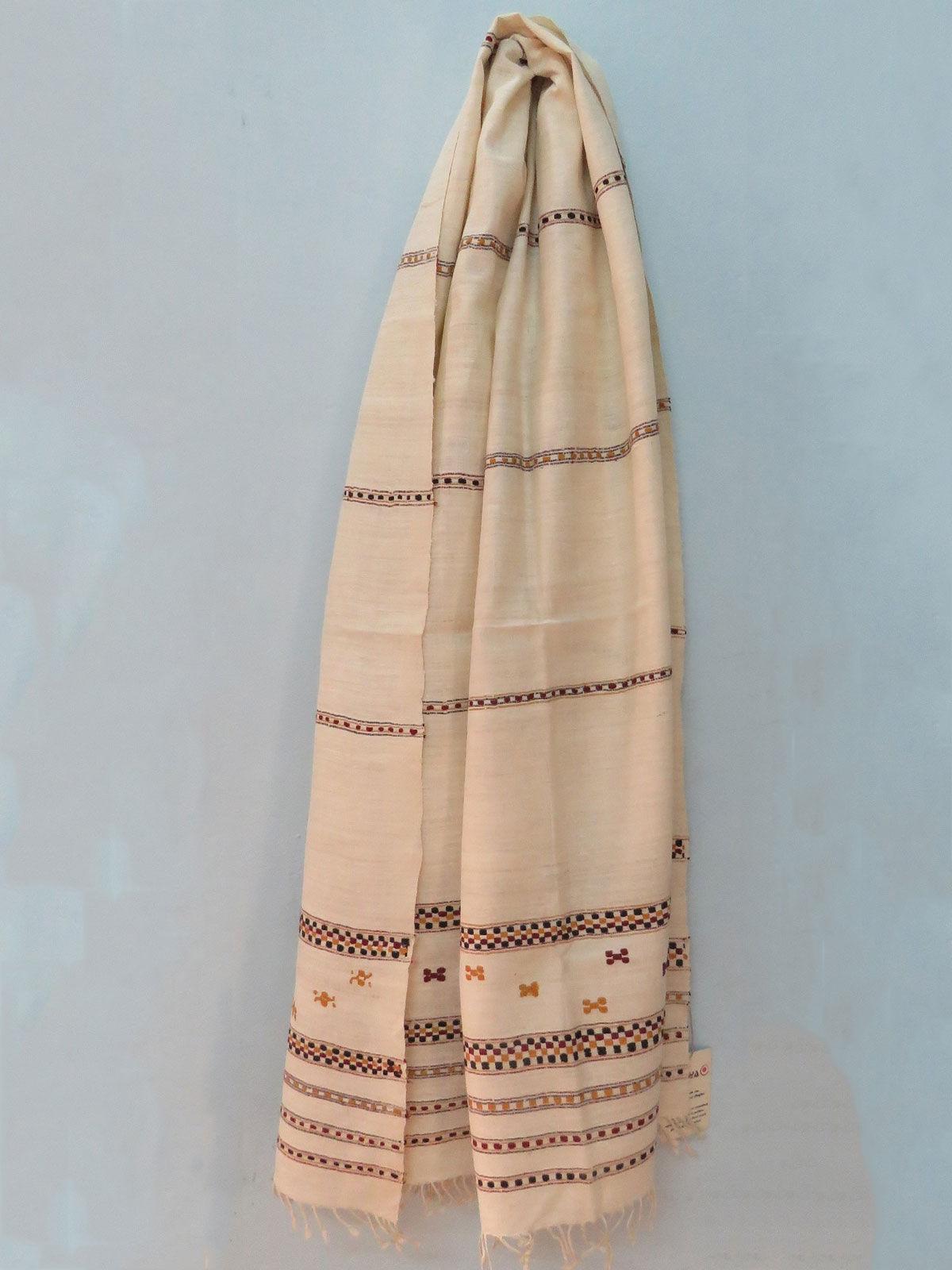 Handwoven Beige color Eri Silk stole