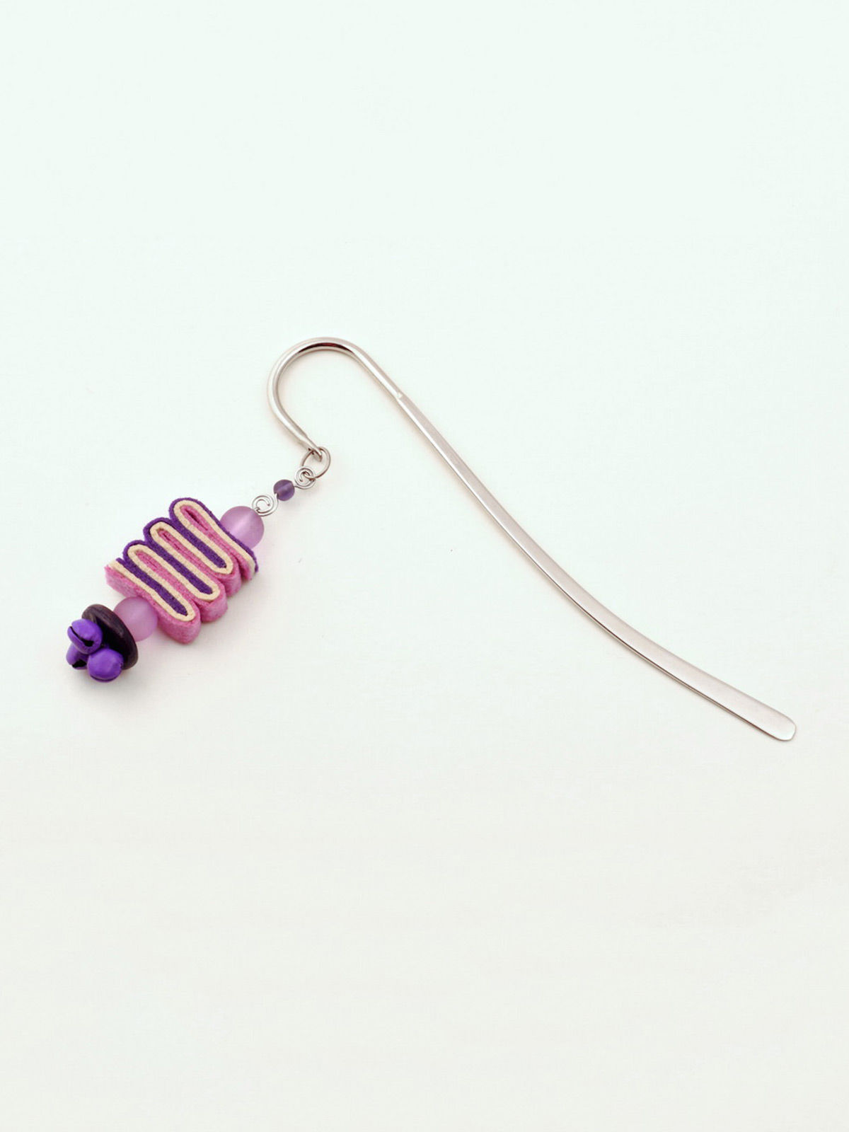 Bookworm Bookmark - Purple
