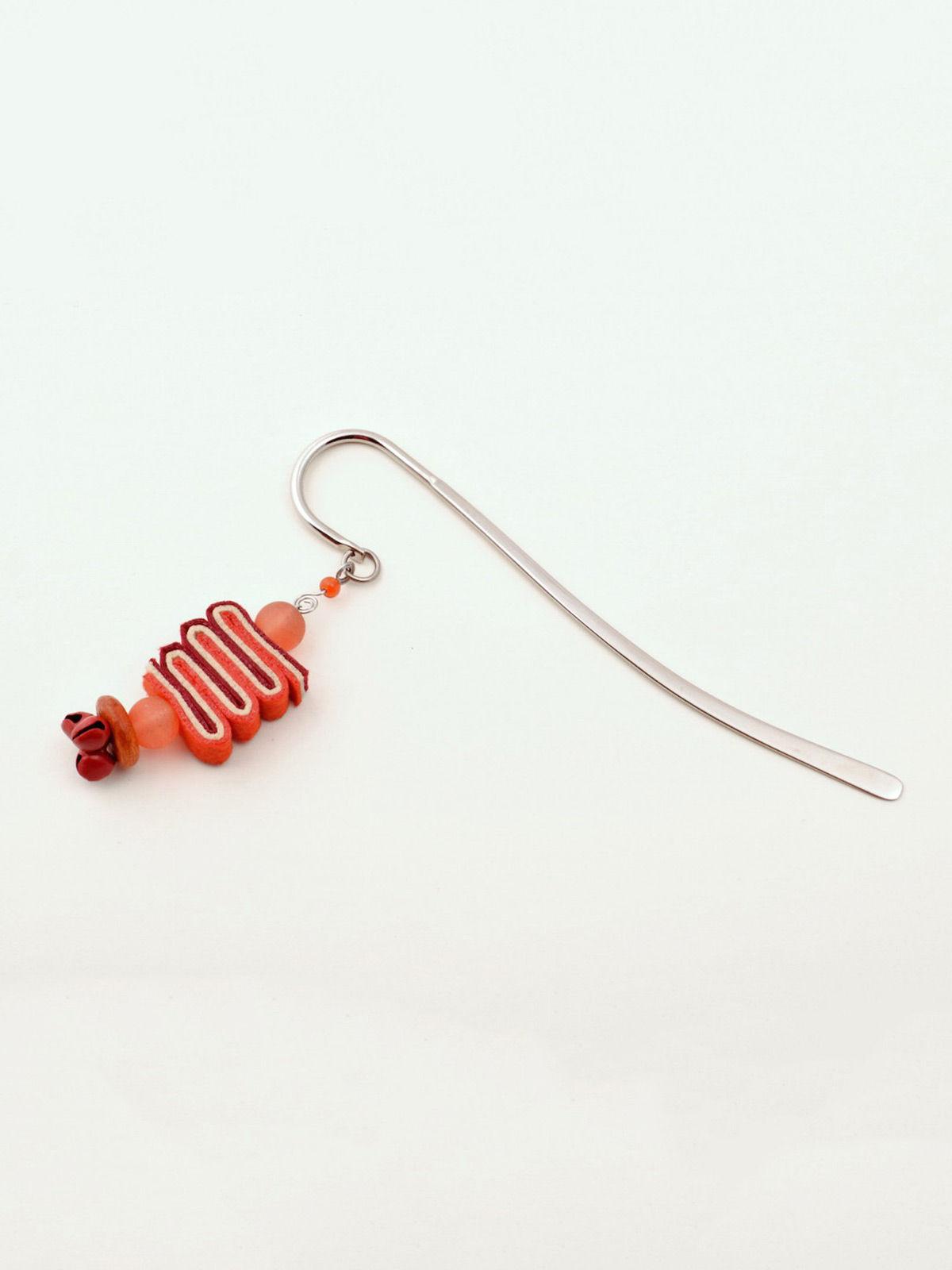 Bookworm Bookmark - Red