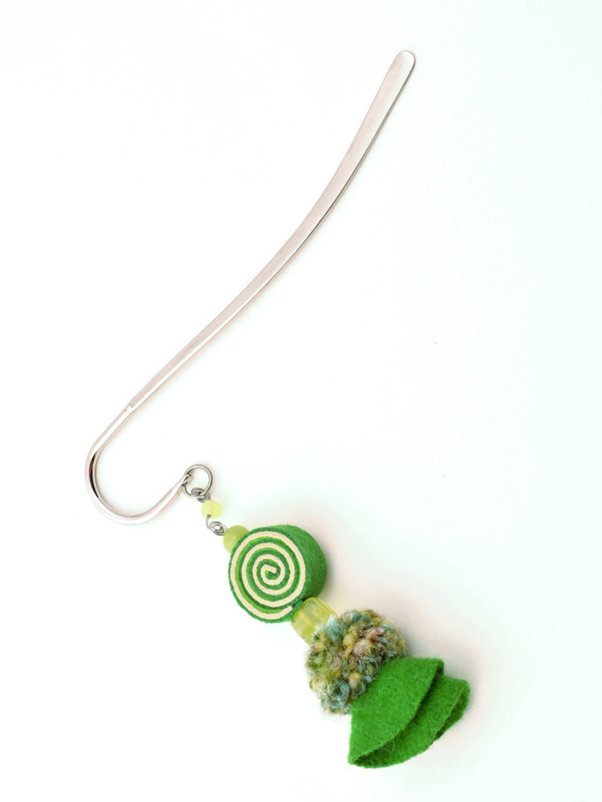 Psychedelic Doll Bookmark - Green