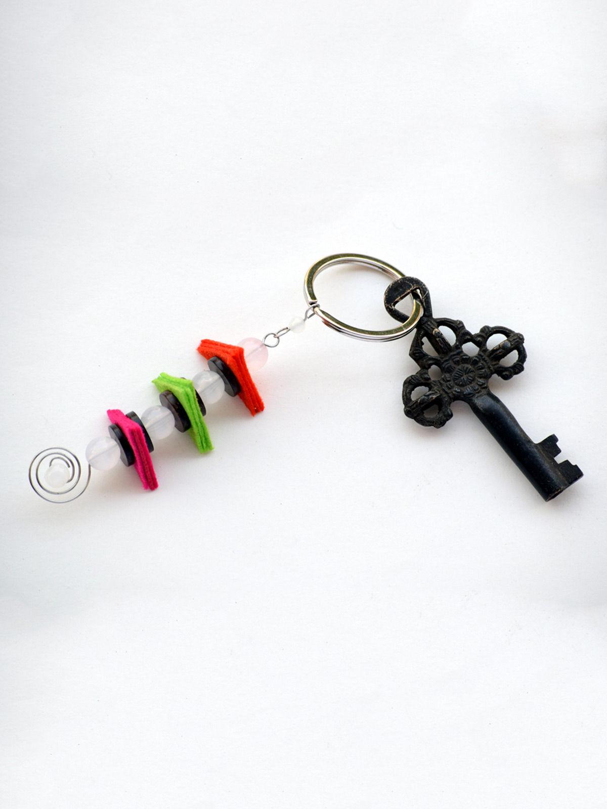 Balancing Act Keychain - White