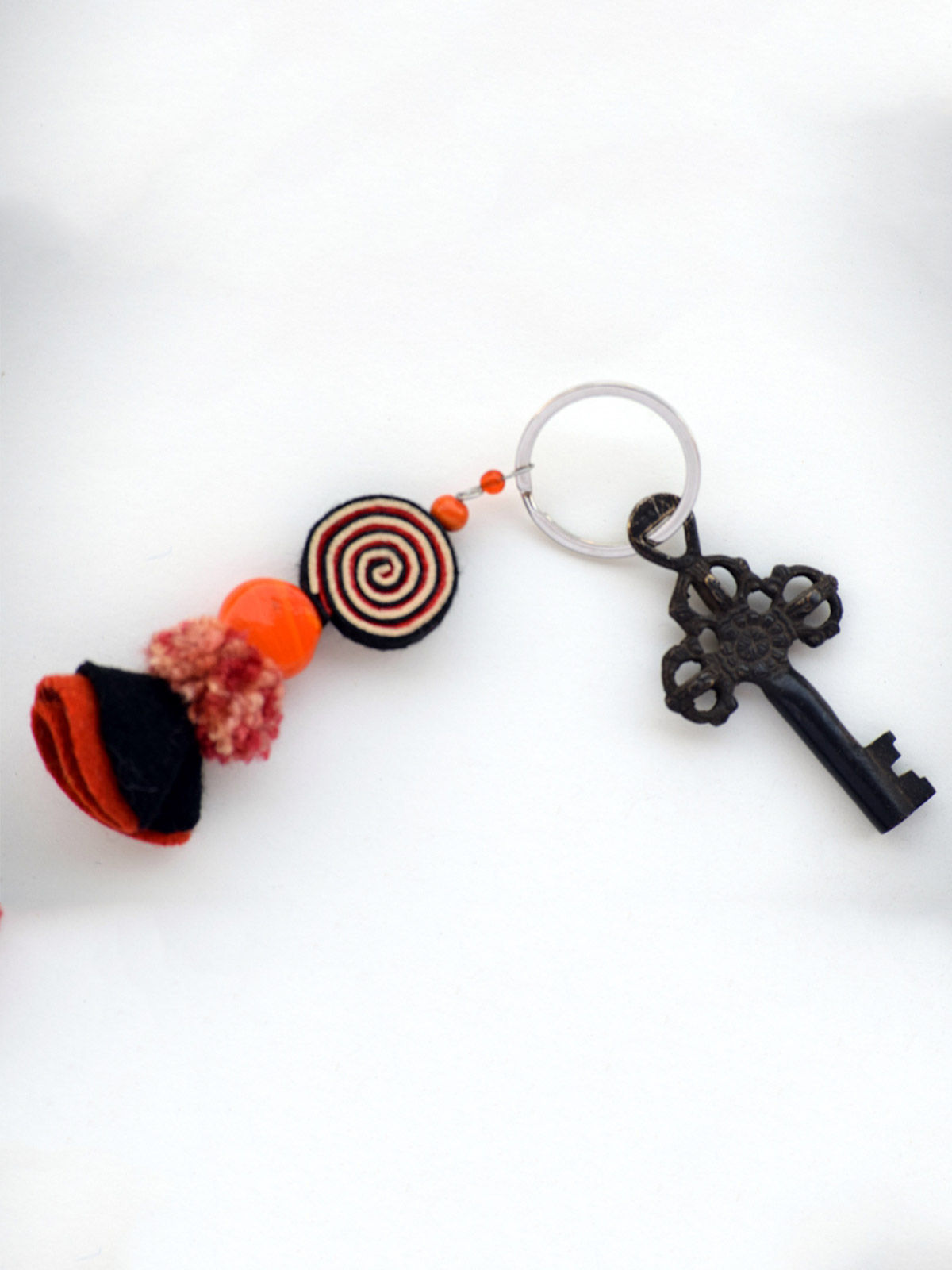 Psychedelic Doll Keychain - Orange