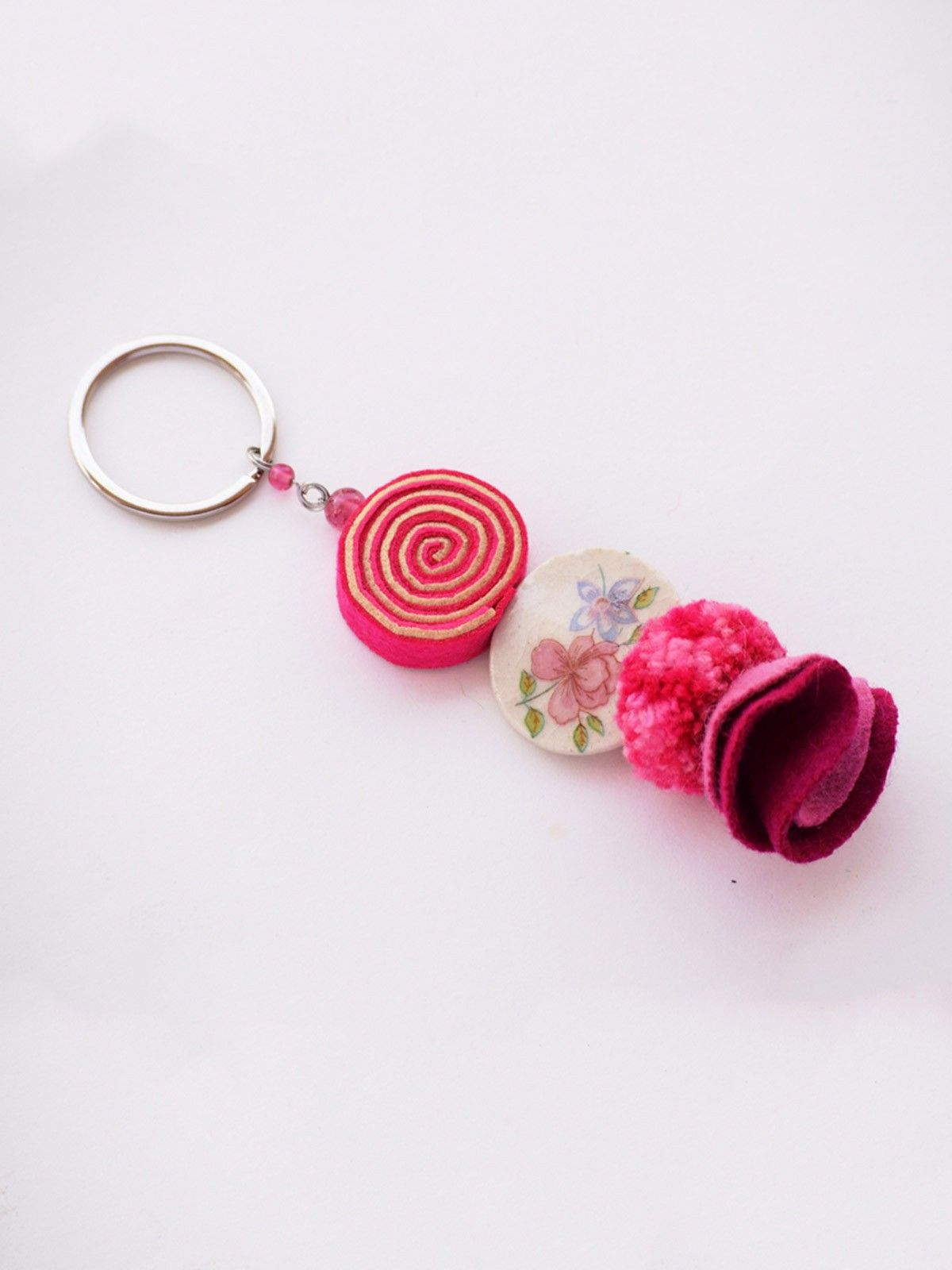 Psychedelic Doll Keychain - Pink