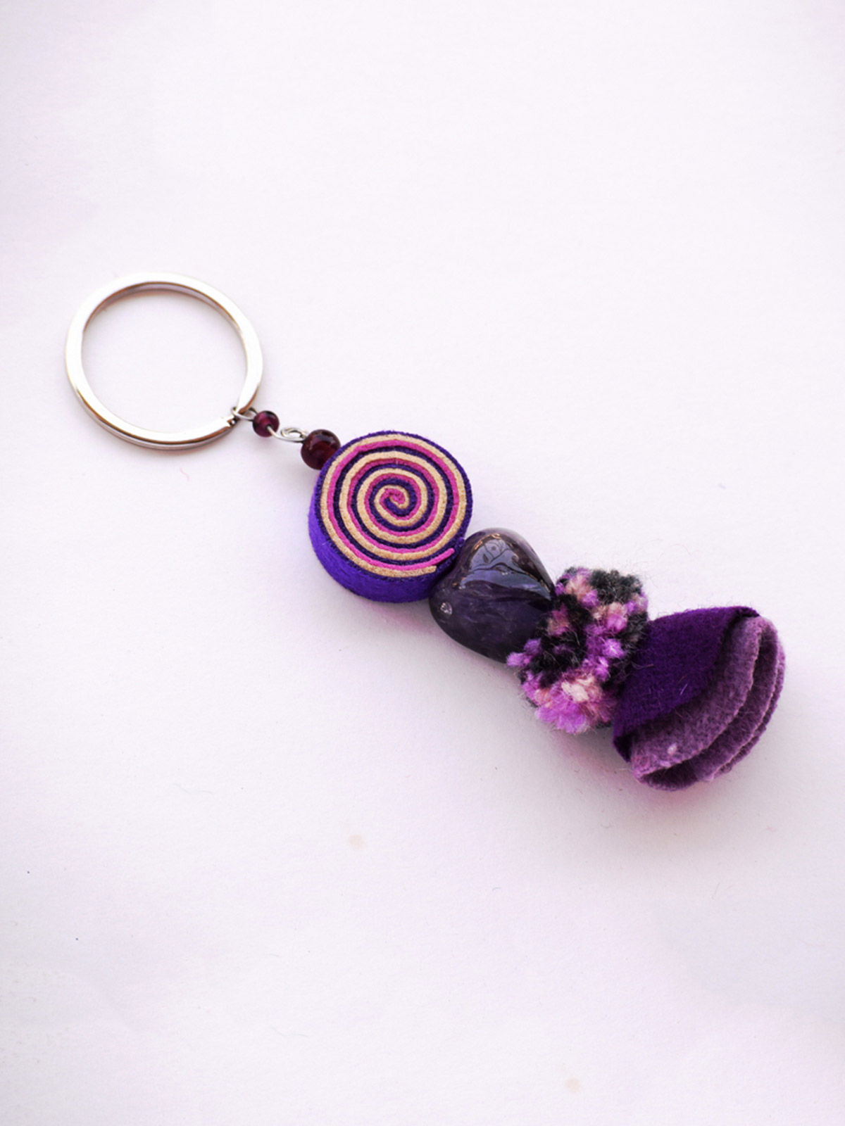 Psychedelic Doll Keychain - Purple