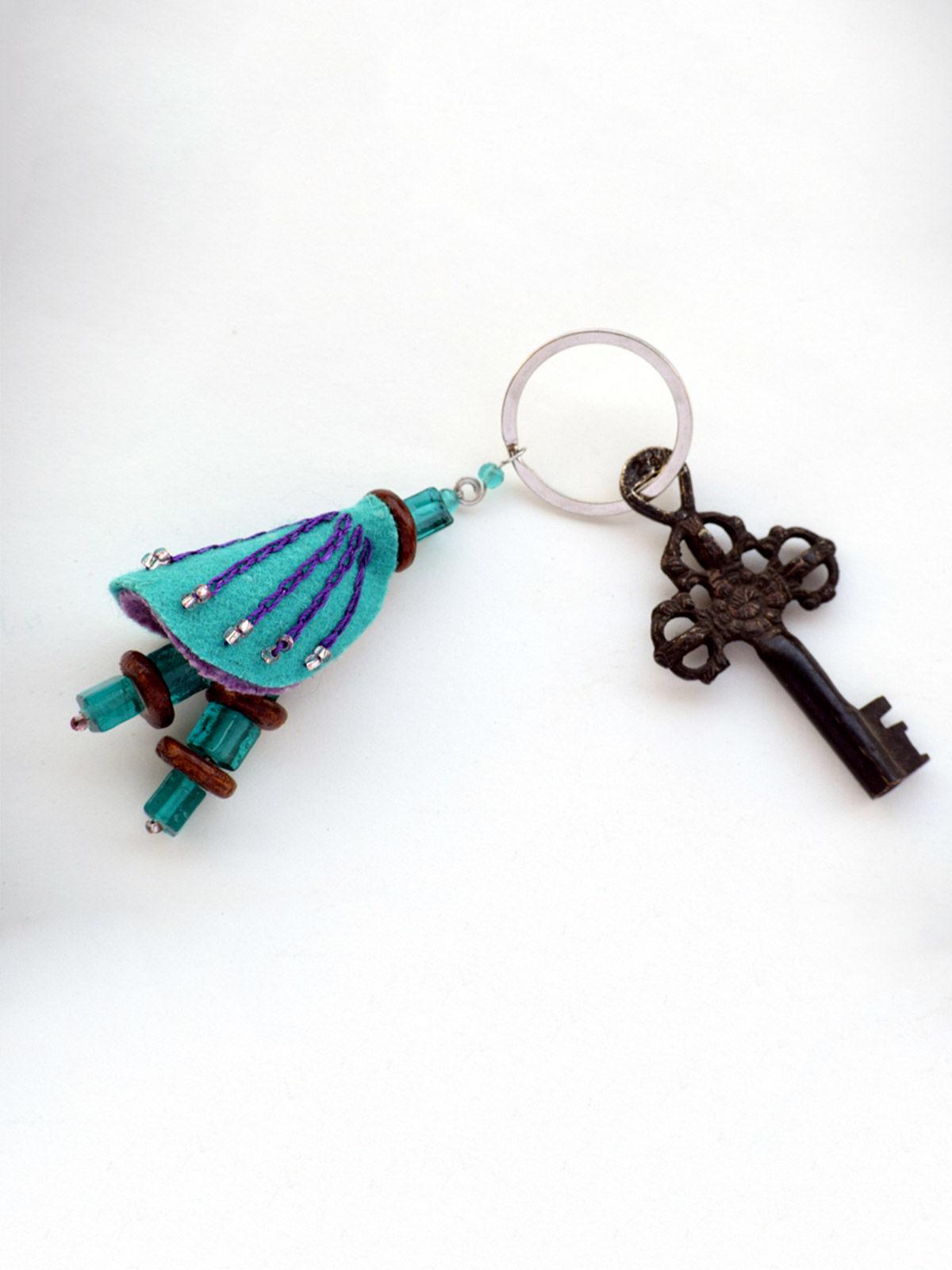 Chrysalis Keychain - Teal