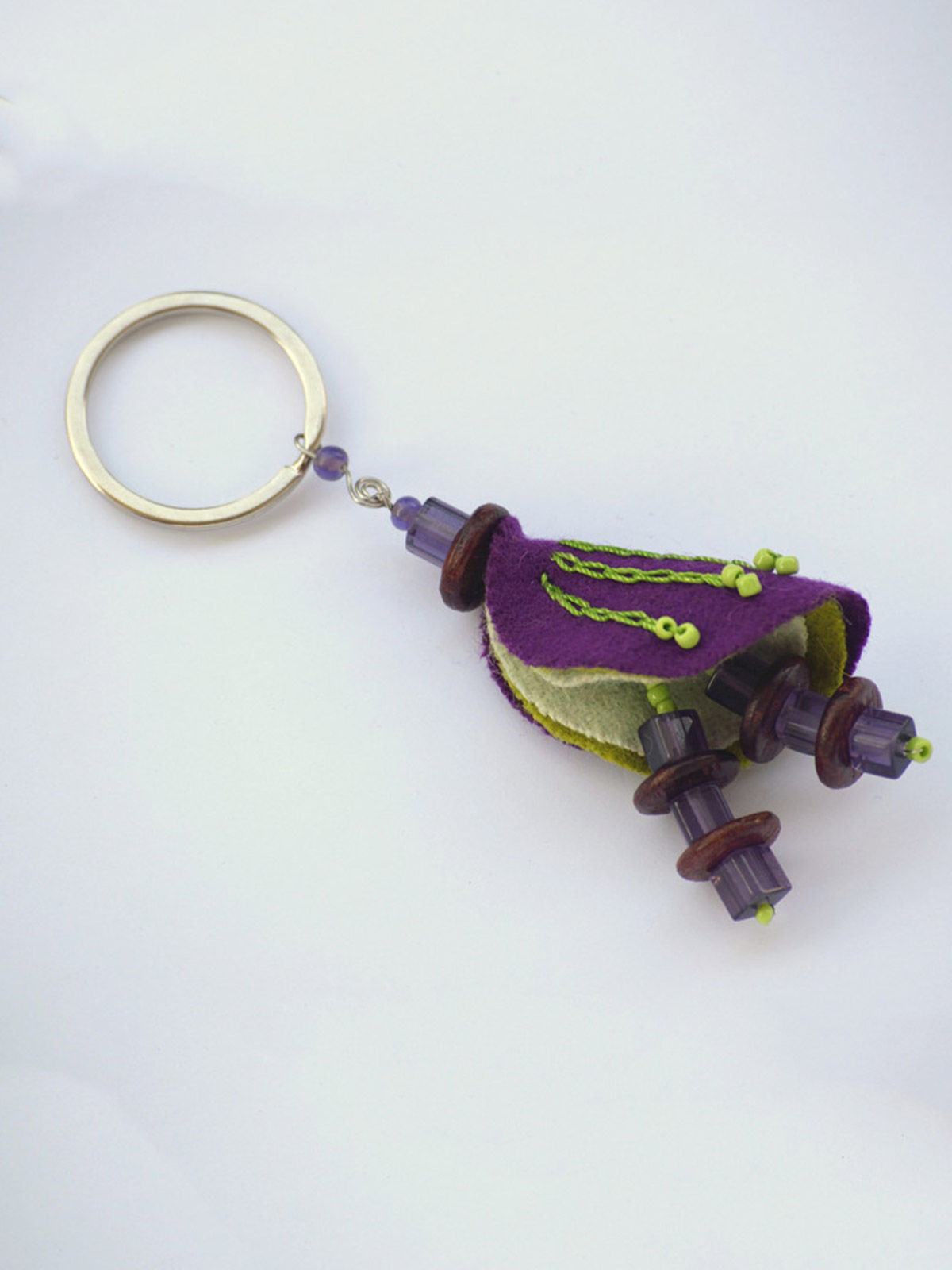 Chrysalis Keychain - Purple