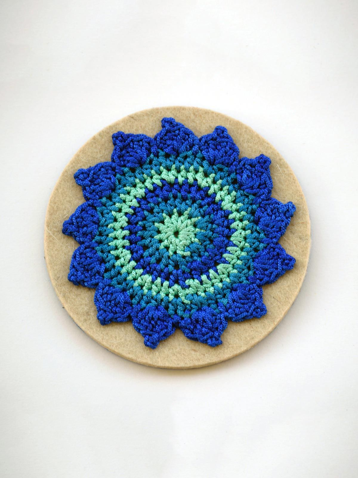 Pinwheel Coaster Blue