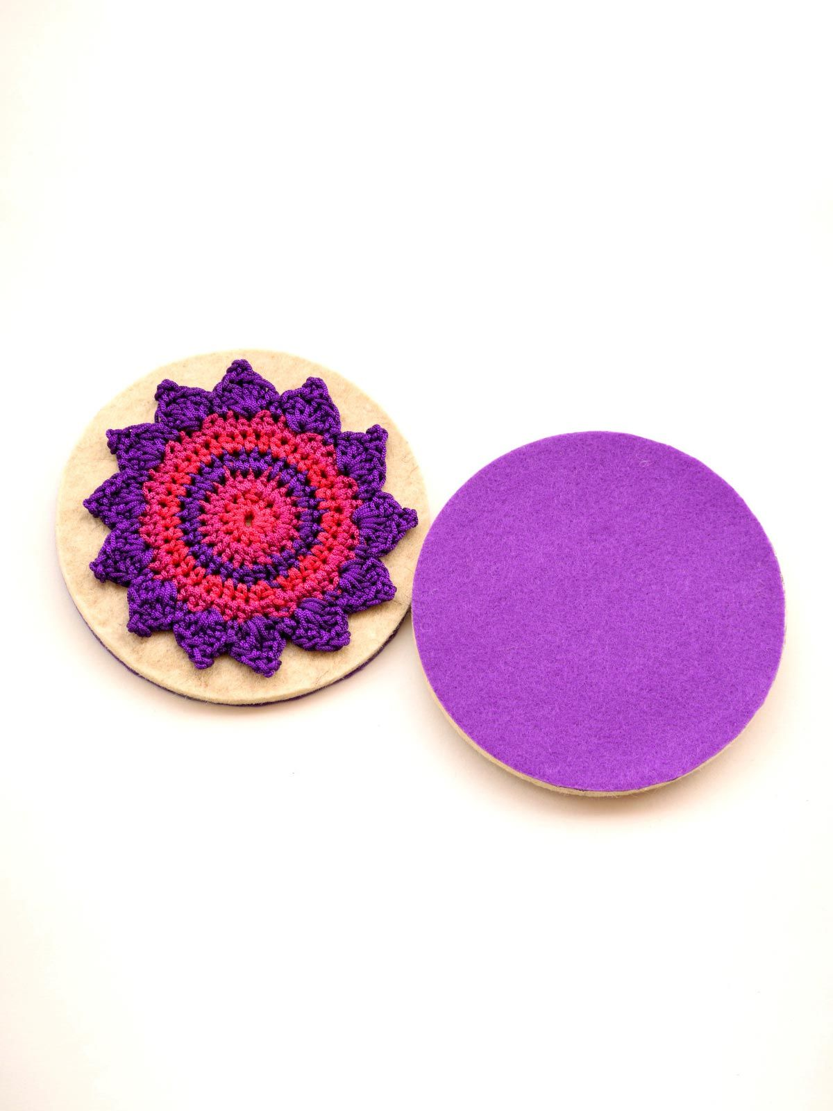 Pinwheel Coaster Purple